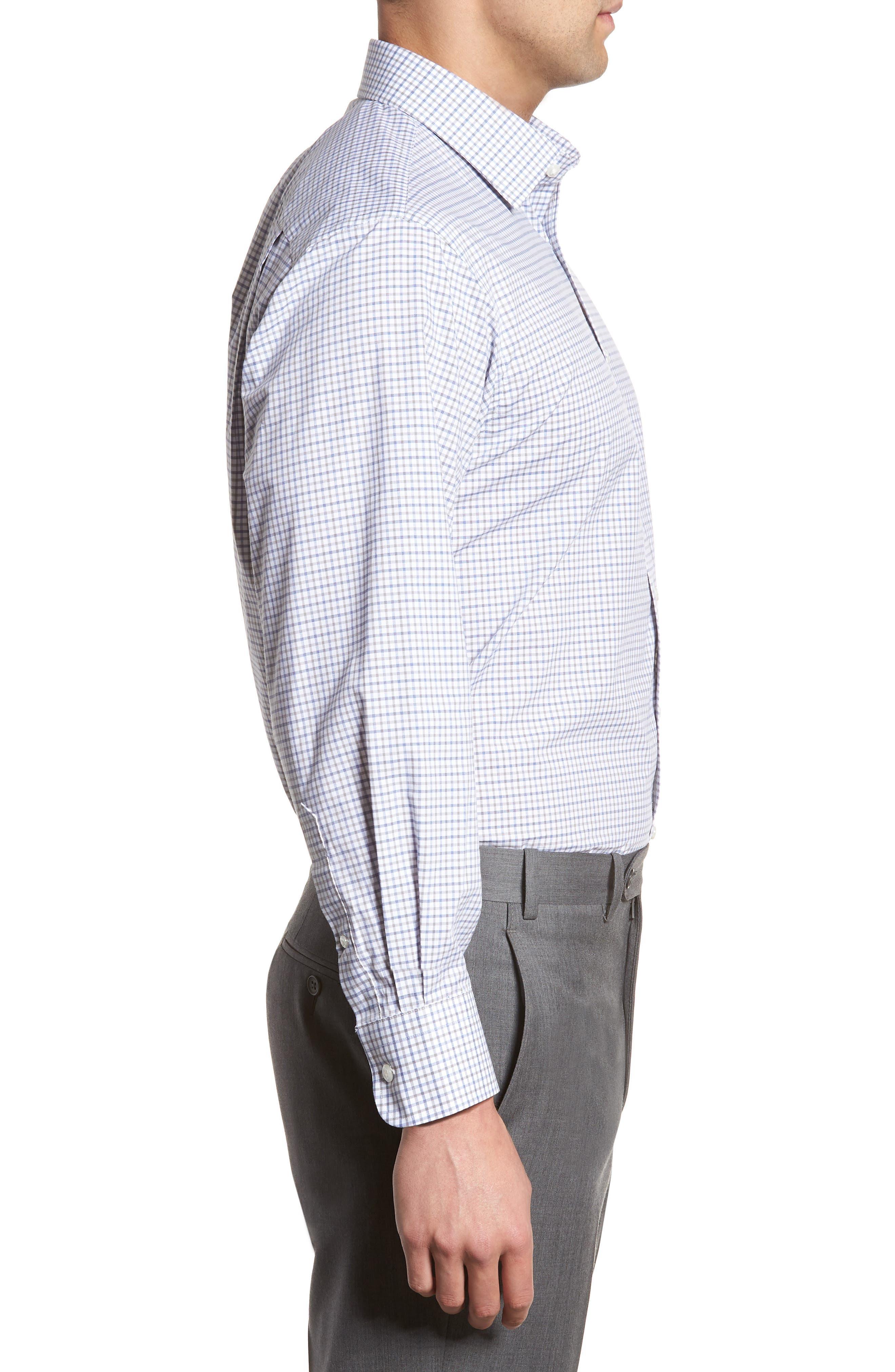 Classic Fit Check Dress Shirt,                             Alternate thumbnail 4, color,                             050