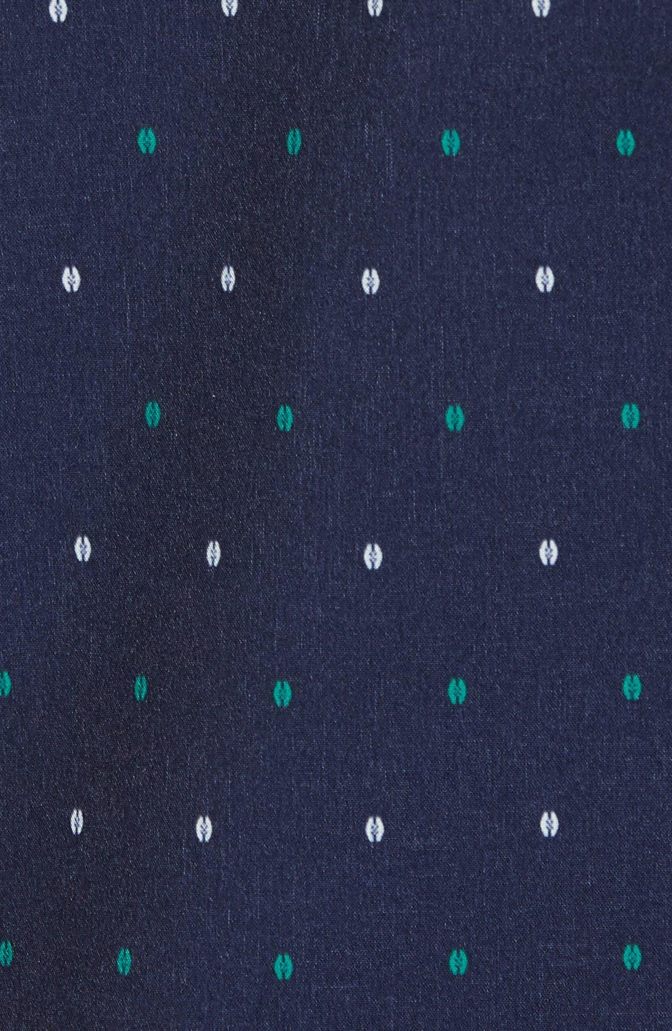 Jameson Regular Fit Dot Performance Sport Shirt,                             Alternate thumbnail 5, color,                             BLUE