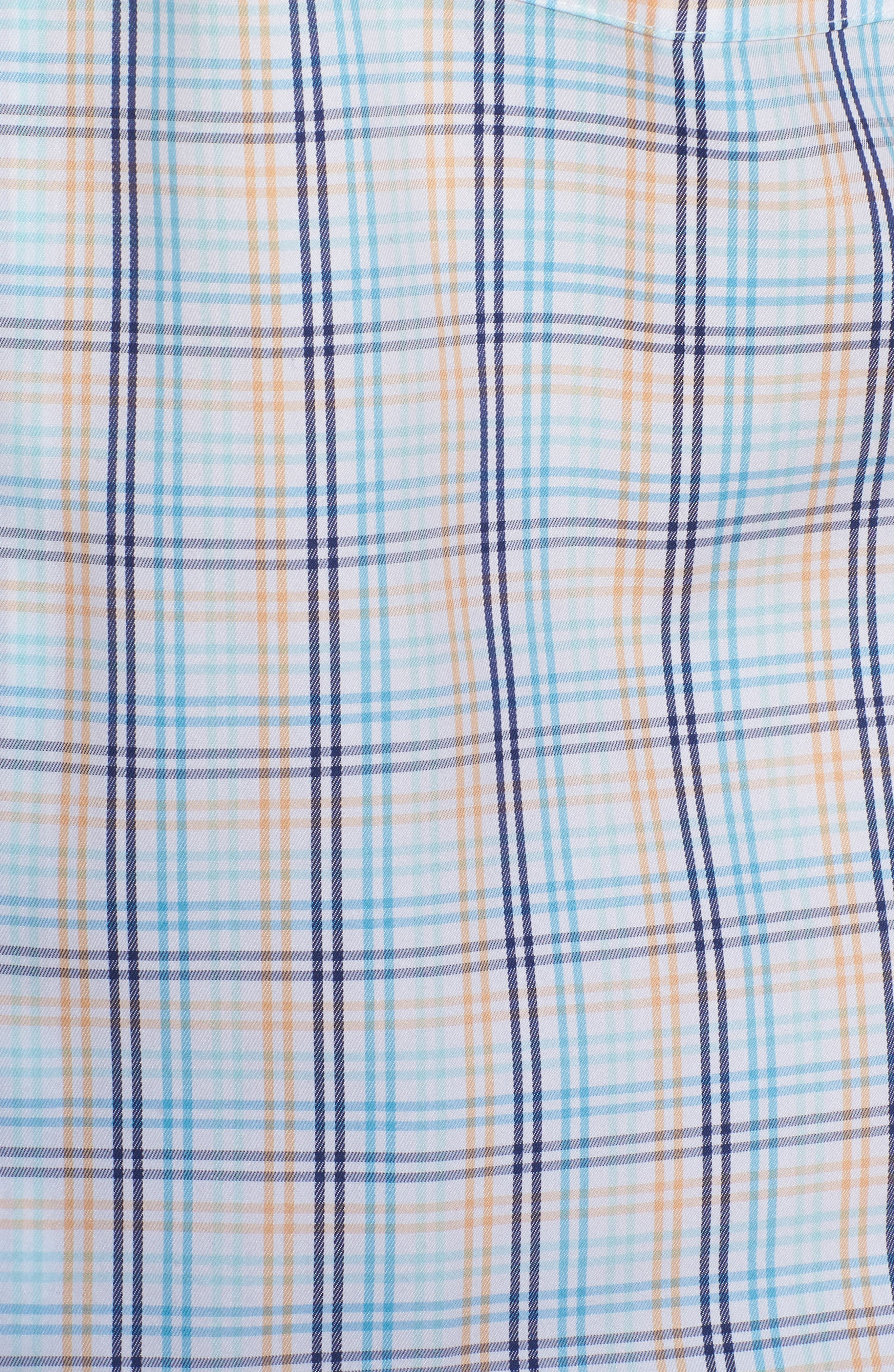 Crown Soft Daybreak Regular Fit Check Sport Shirt,                             Alternate thumbnail 5, color,