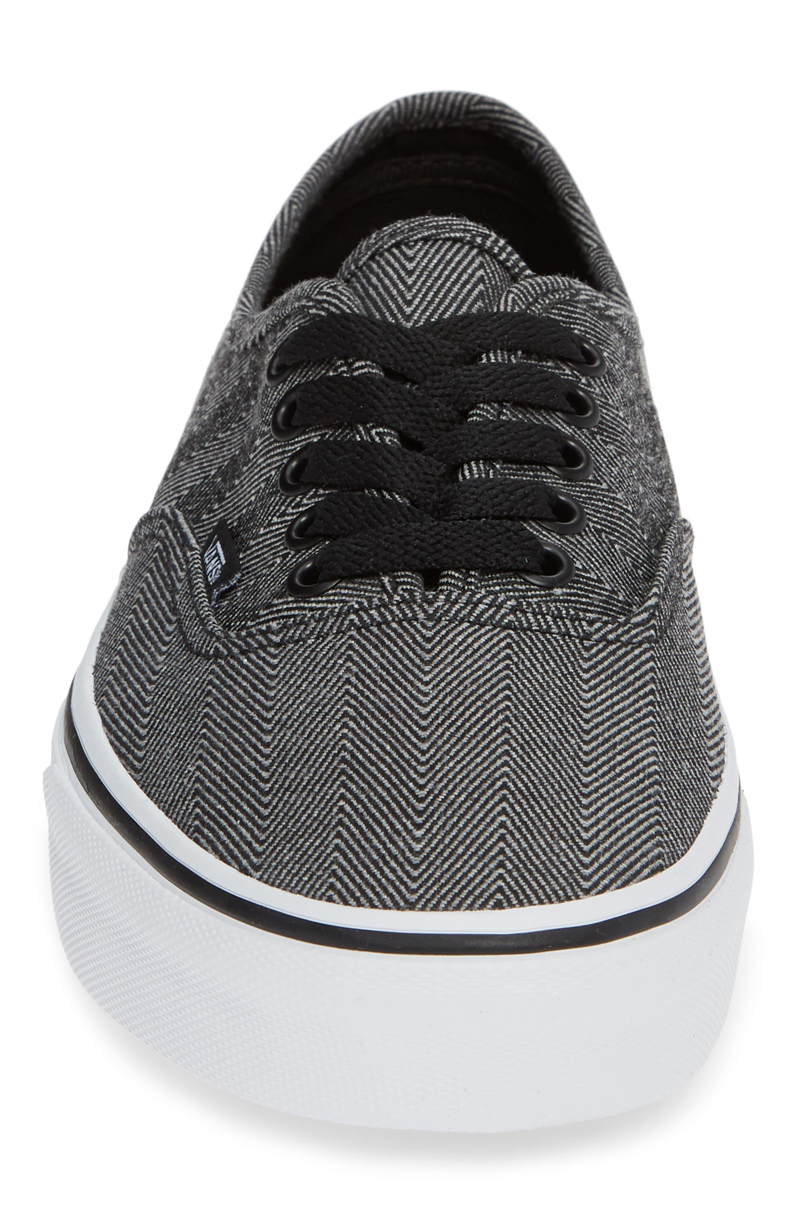 UA Authentic Sneaker,                             Alternate thumbnail 4, color,                             BLACK/ TRUE WHITE