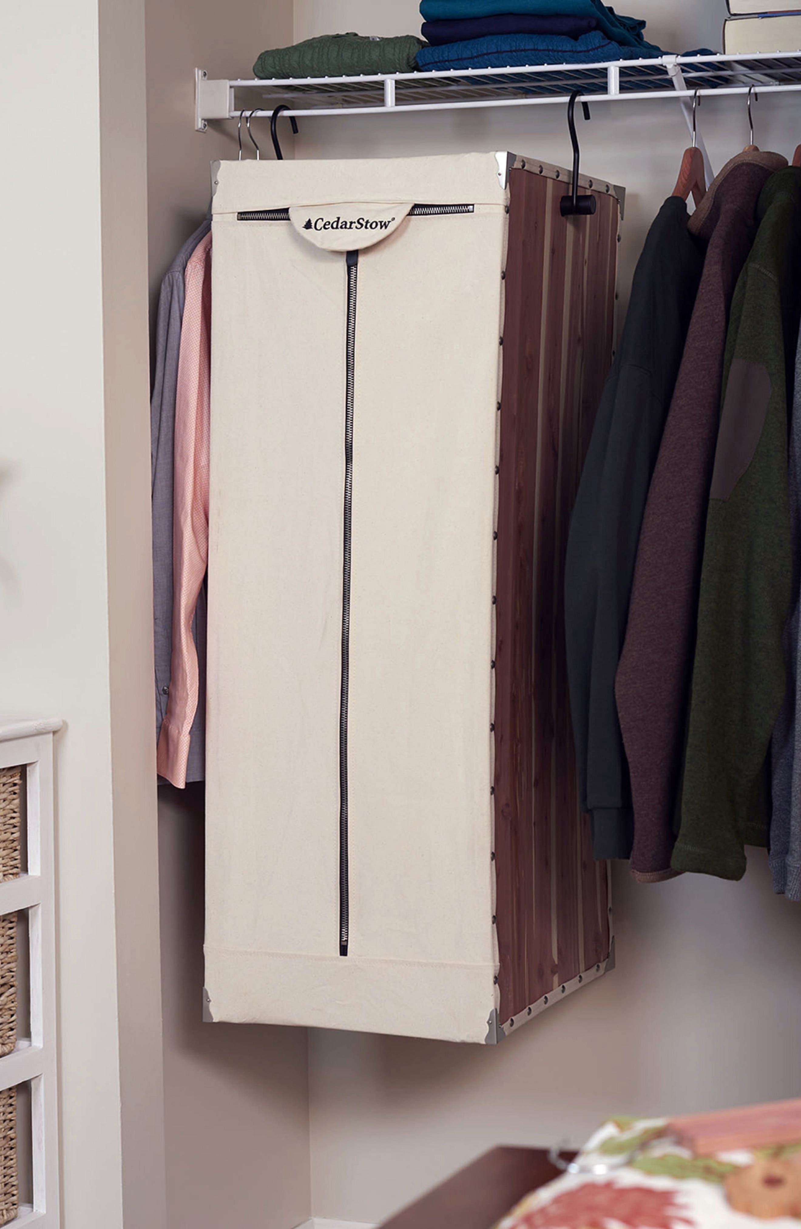 CedarStow Clothing Wardrobe,                             Alternate thumbnail 6, color,                             BEIGE AND CEDAR