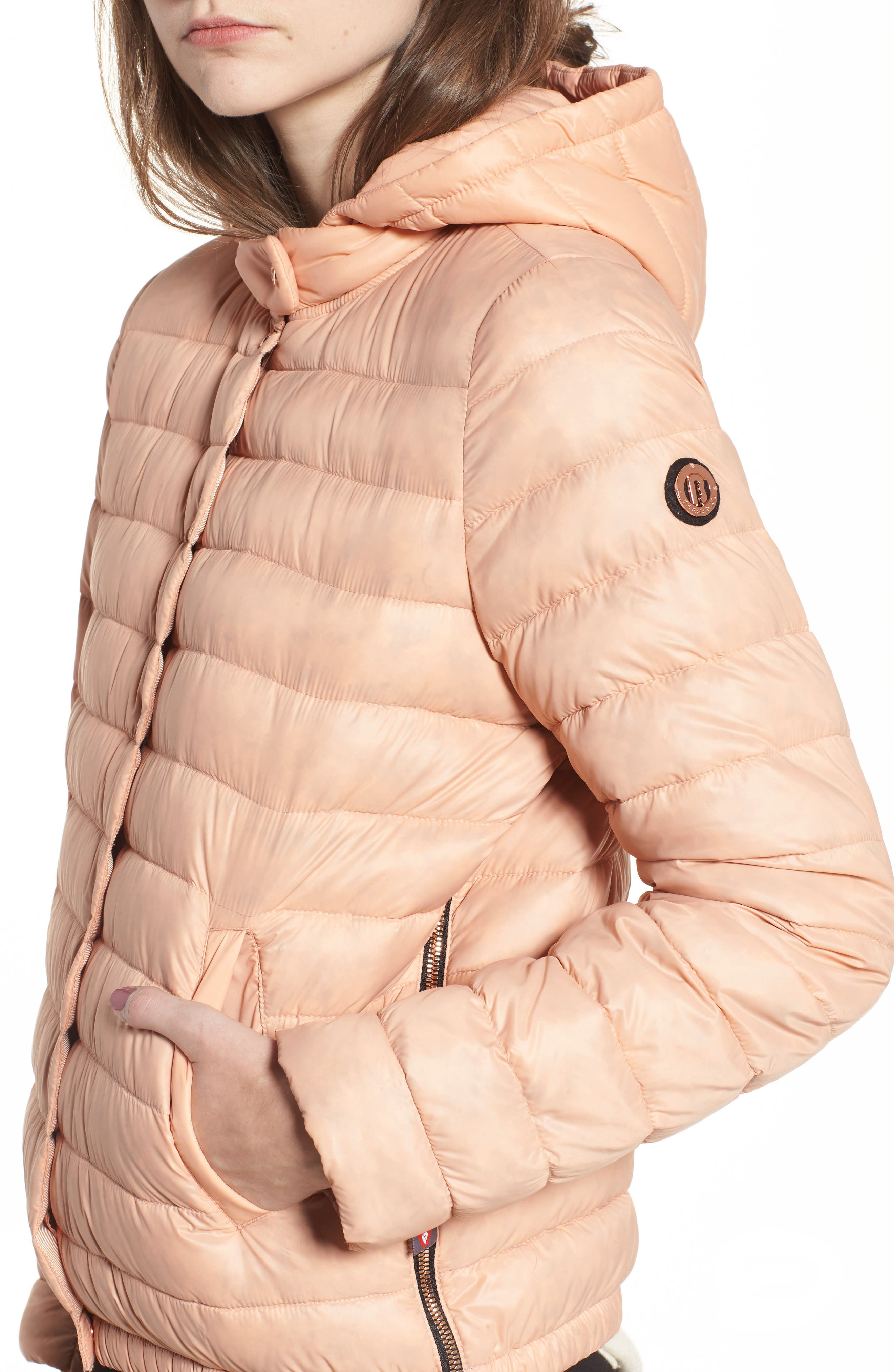 Water Resistant Insulated Hooded Bomber Jacket,                             Alternate thumbnail 11, color,