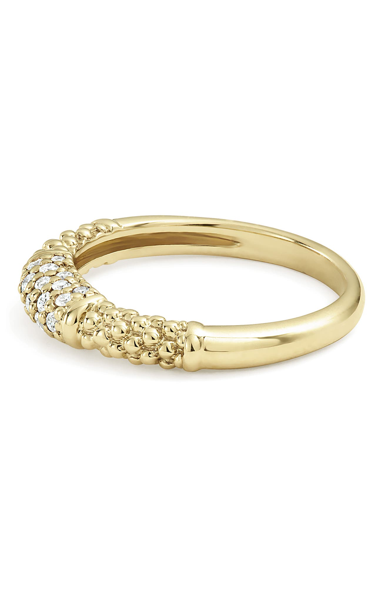 Caviar Diamond Ring,                             Alternate thumbnail 3, color,                             GOLD