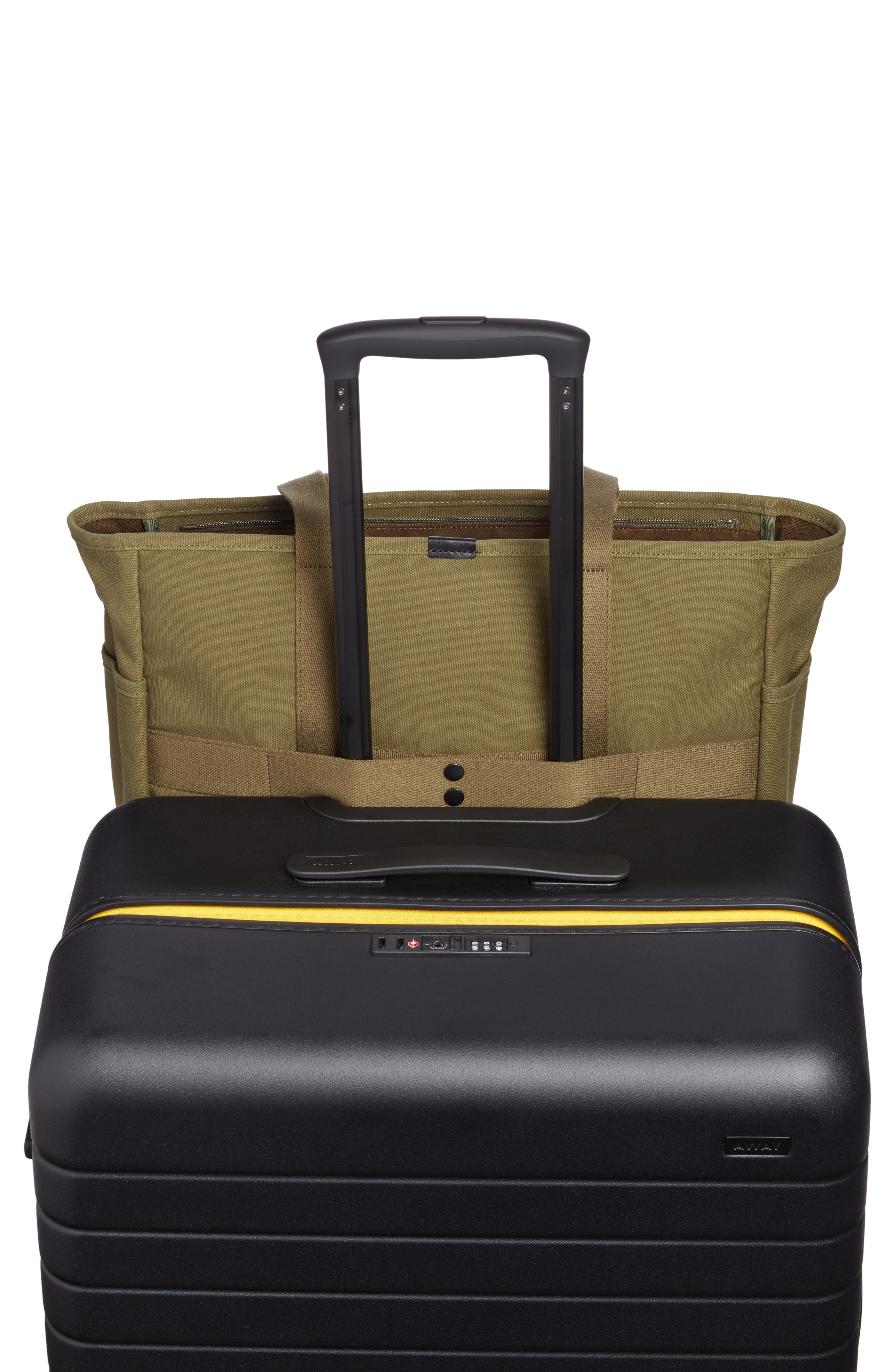 x Porter Travel Tote Bag,                             Alternate thumbnail 7, color,                             OLIVE