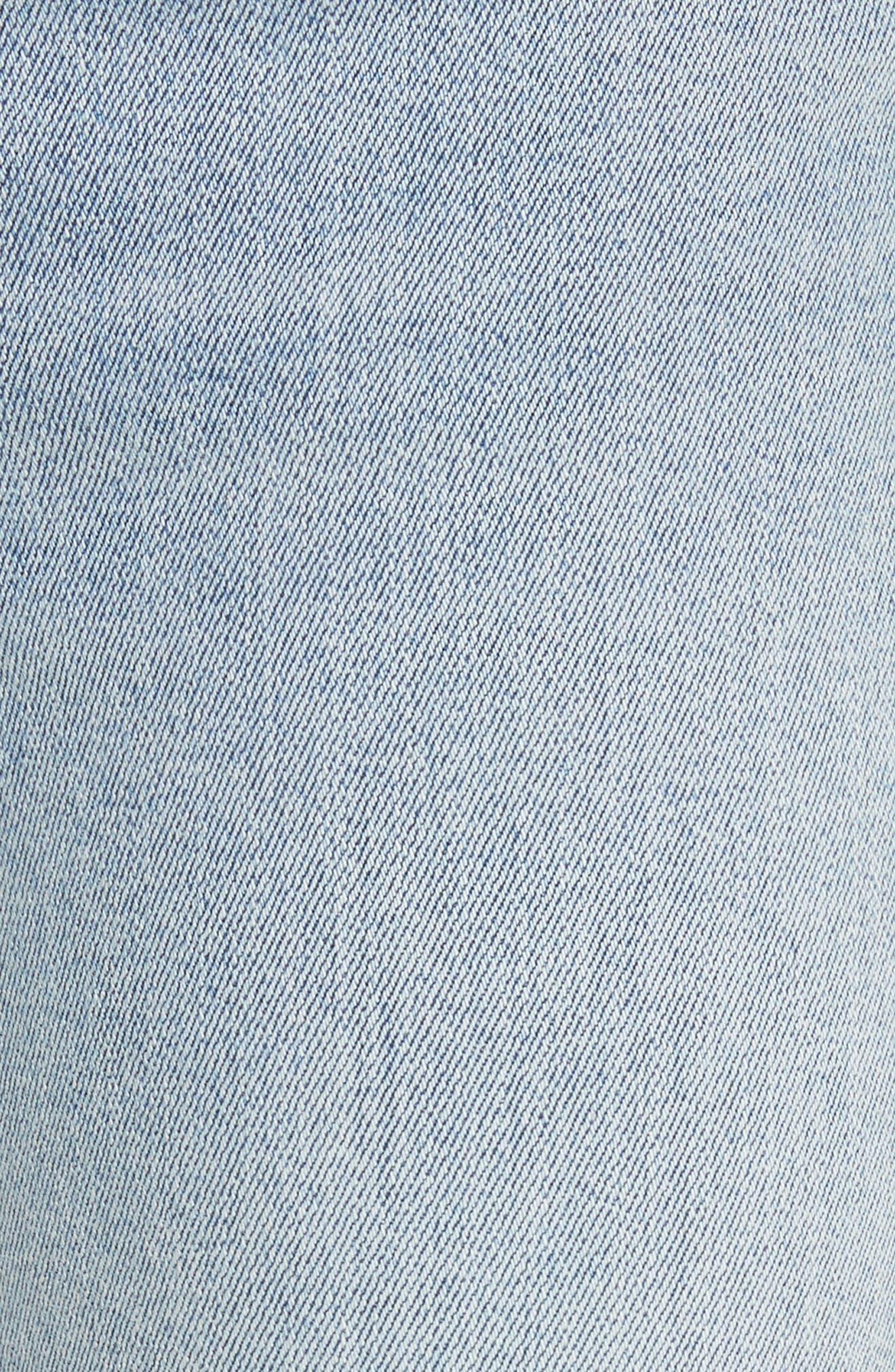 Karolina High Waist Skinny Jeans,                             Alternate thumbnail 6, color,                             TITANIUM