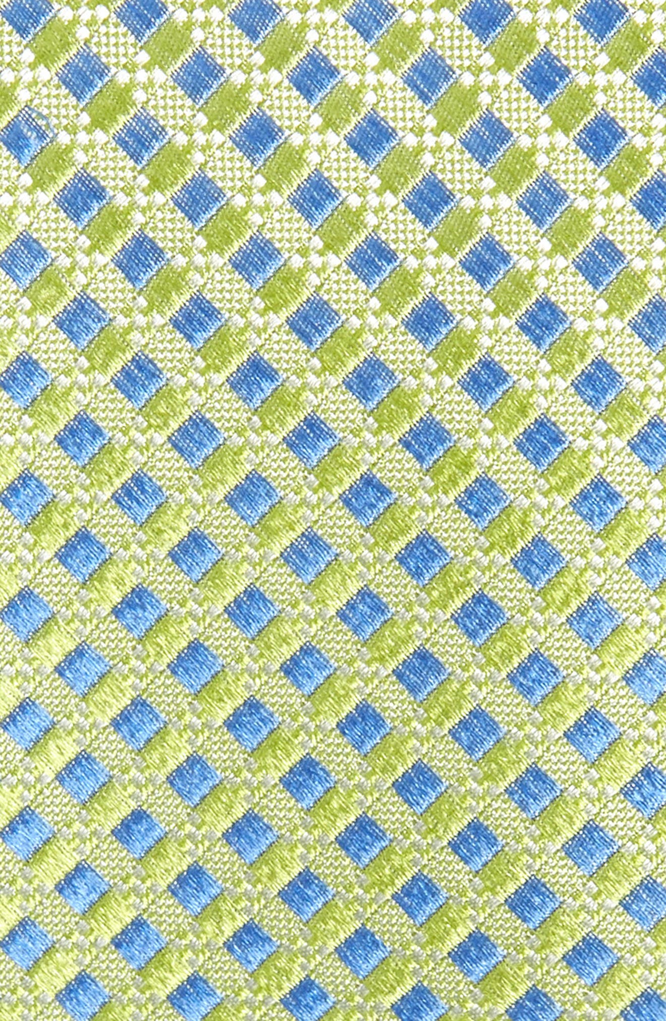 NORDSTROM MEN'S SHOP,                             Nathan Neat Silk Tie,                             Alternate thumbnail 2, color,                             GREEN