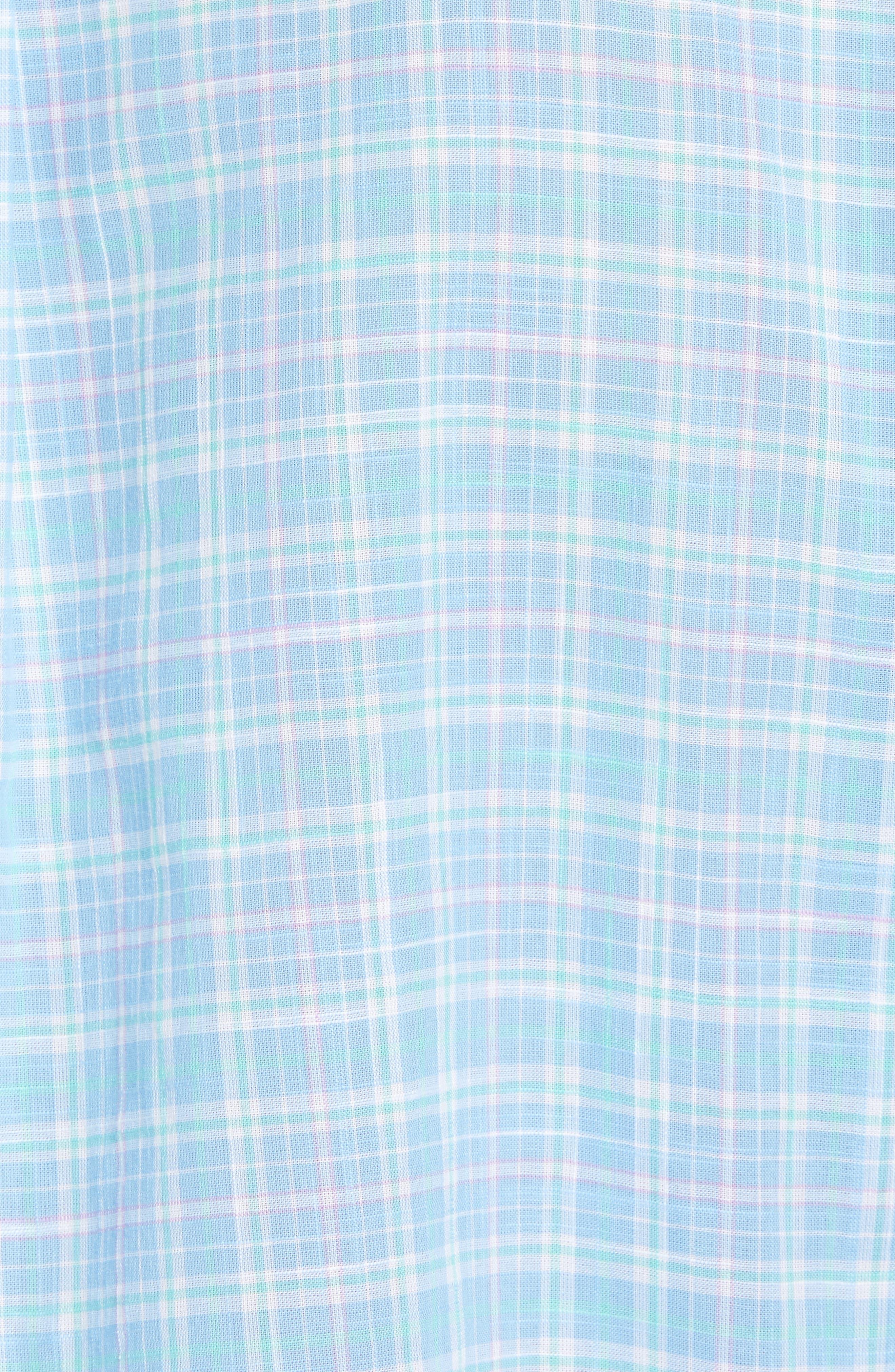 Stoney Hill Tucker Classic Fit Plaid Sport Shirt,                             Alternate thumbnail 5, color,                             415