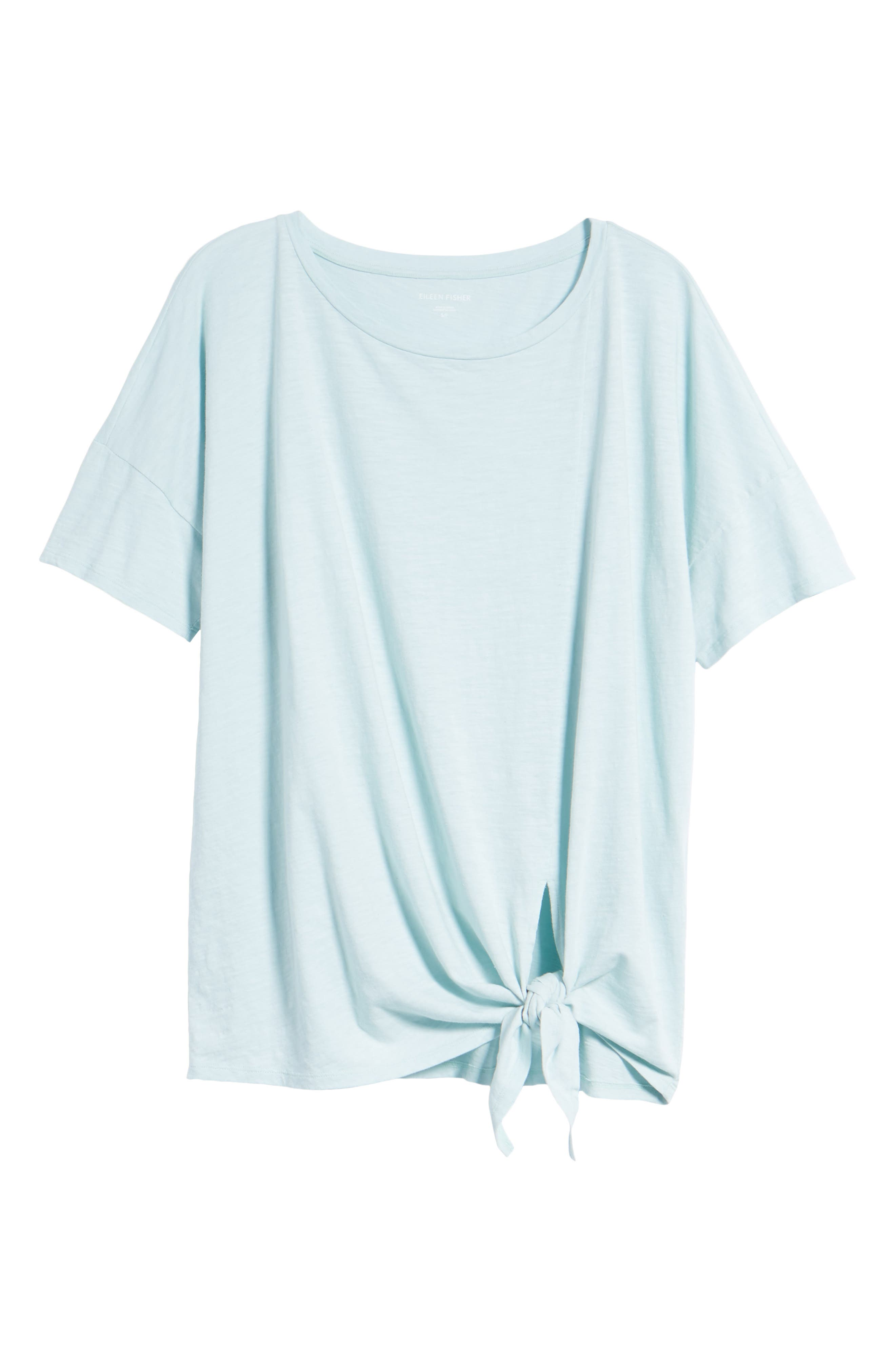 Tie Hem Organic Cotton Tee,                             Alternate thumbnail 29, color,