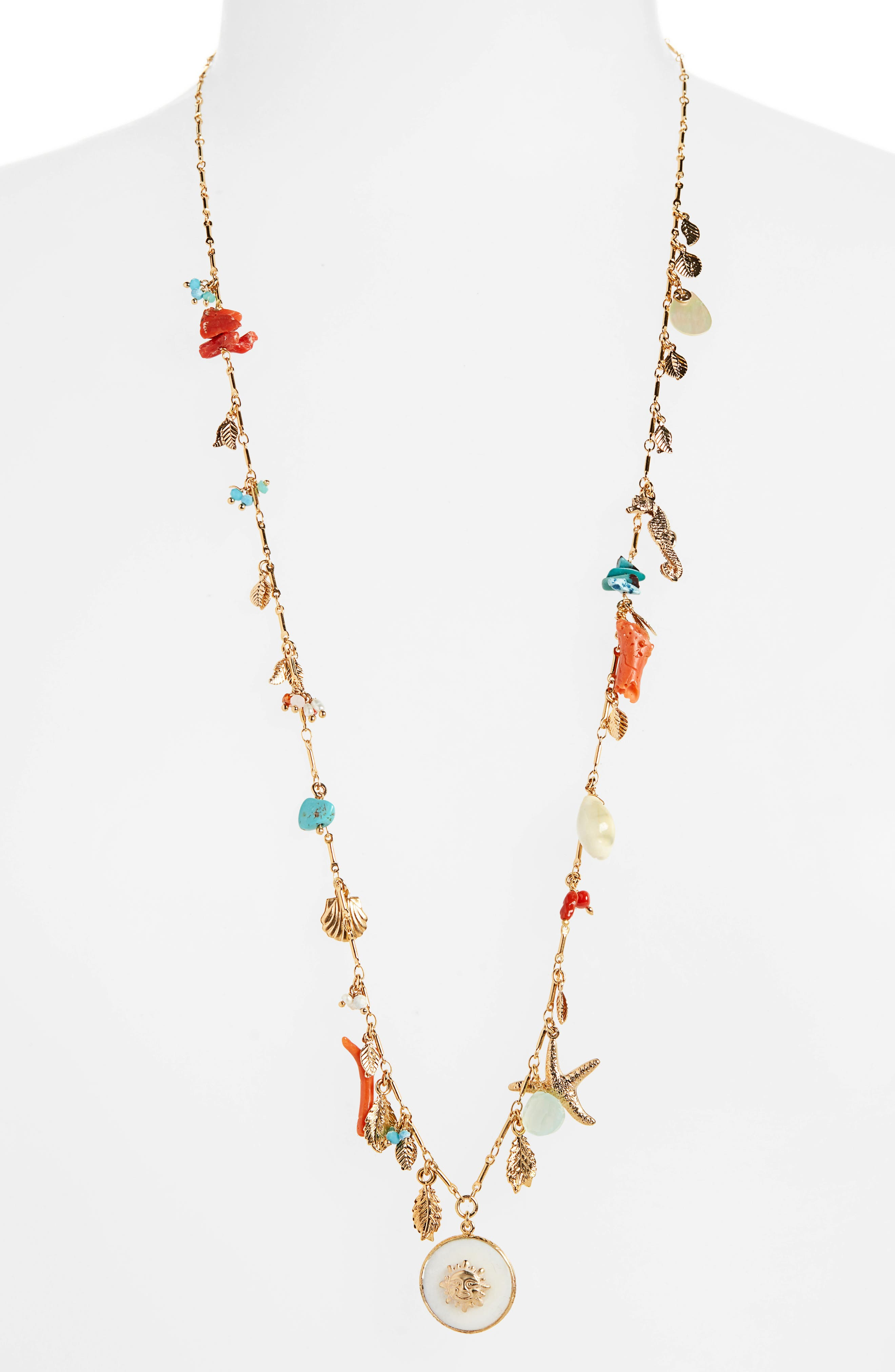 GAS BIJOUX Serti Folia Necklace in Gold Multi