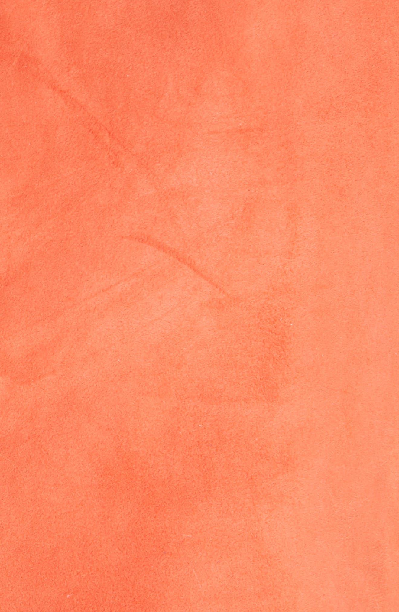 GANNI,                             Salvia Suede Skirt,                             Alternate thumbnail 5, color,                             800