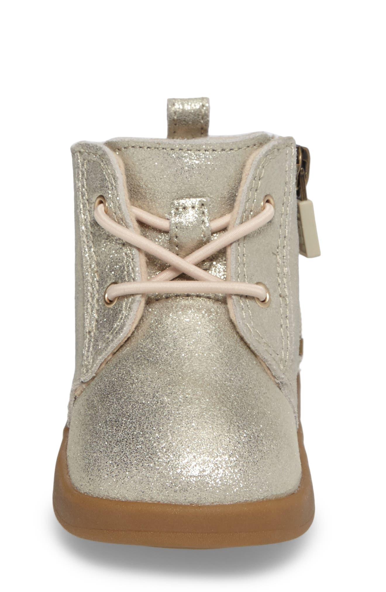 UGG<SUP>®</SUP>,                             Kristjan Metallic Sneaker Boot,                             Alternate thumbnail 4, color,                             710