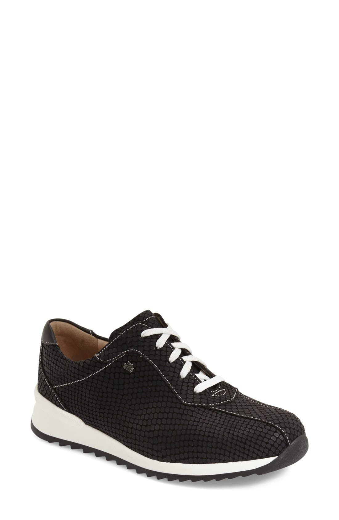 'Sarnia' Sneaker,                             Main thumbnail 1, color,                             BLACK NAPPA LEATHER