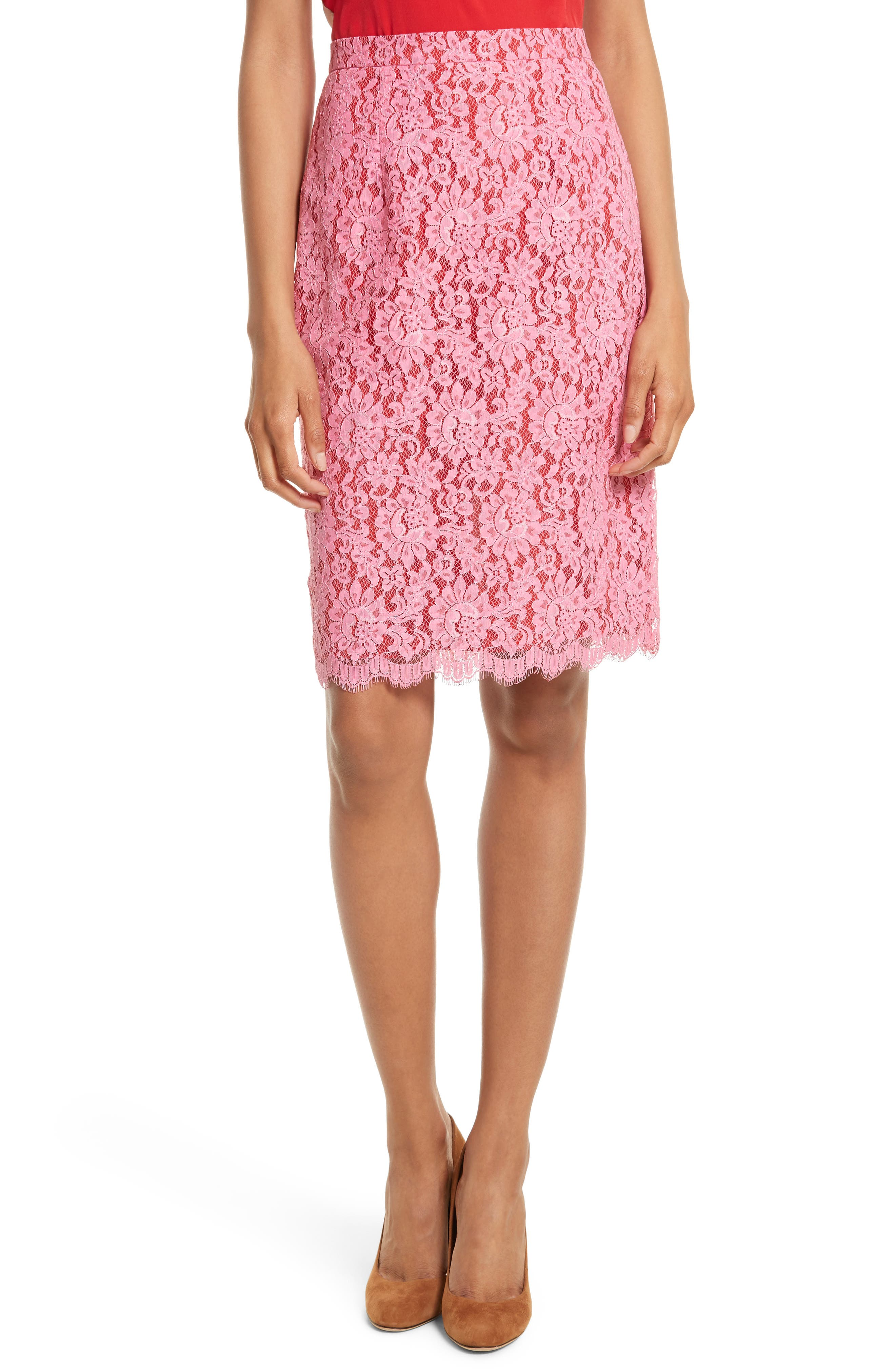 Lace Pencil Skirt,                             Main thumbnail 1, color,                             683