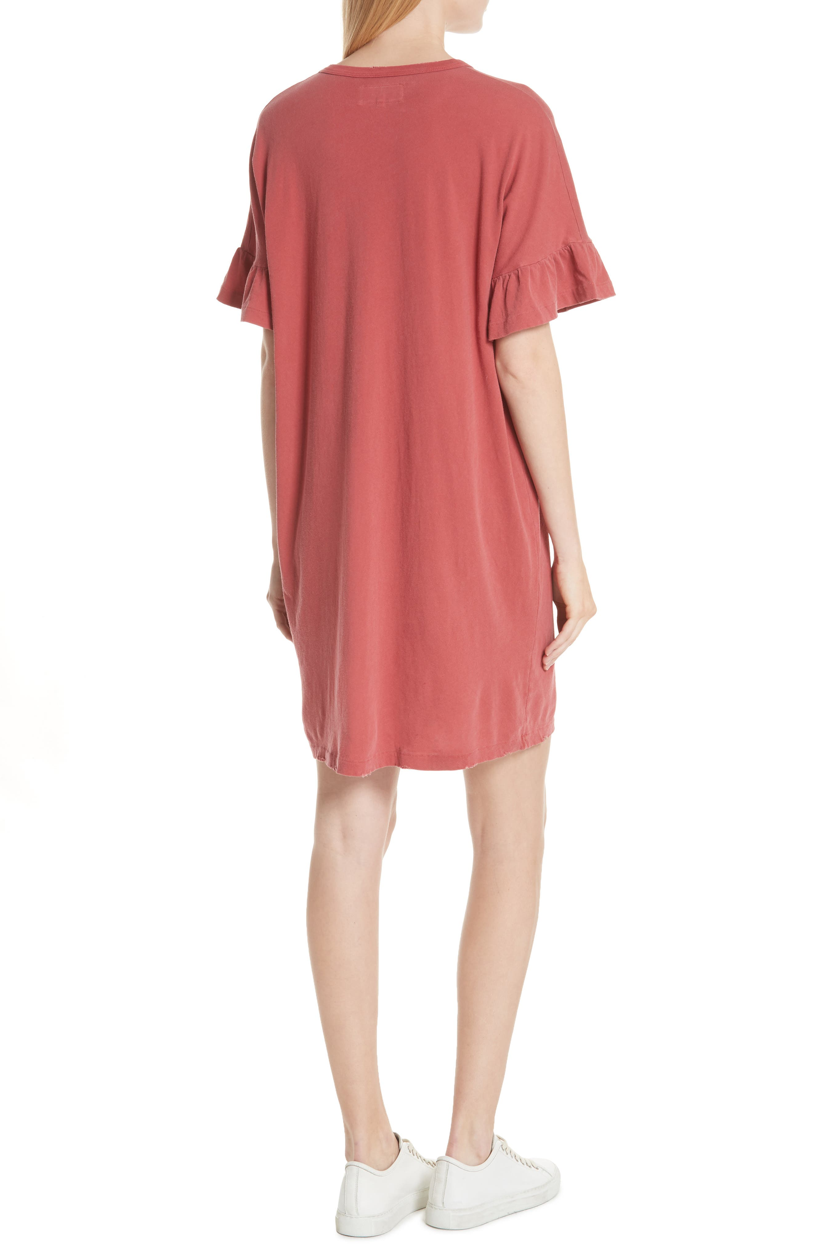 Ruffle Sleeve T-Shirt Dress,                             Alternate thumbnail 2, color,