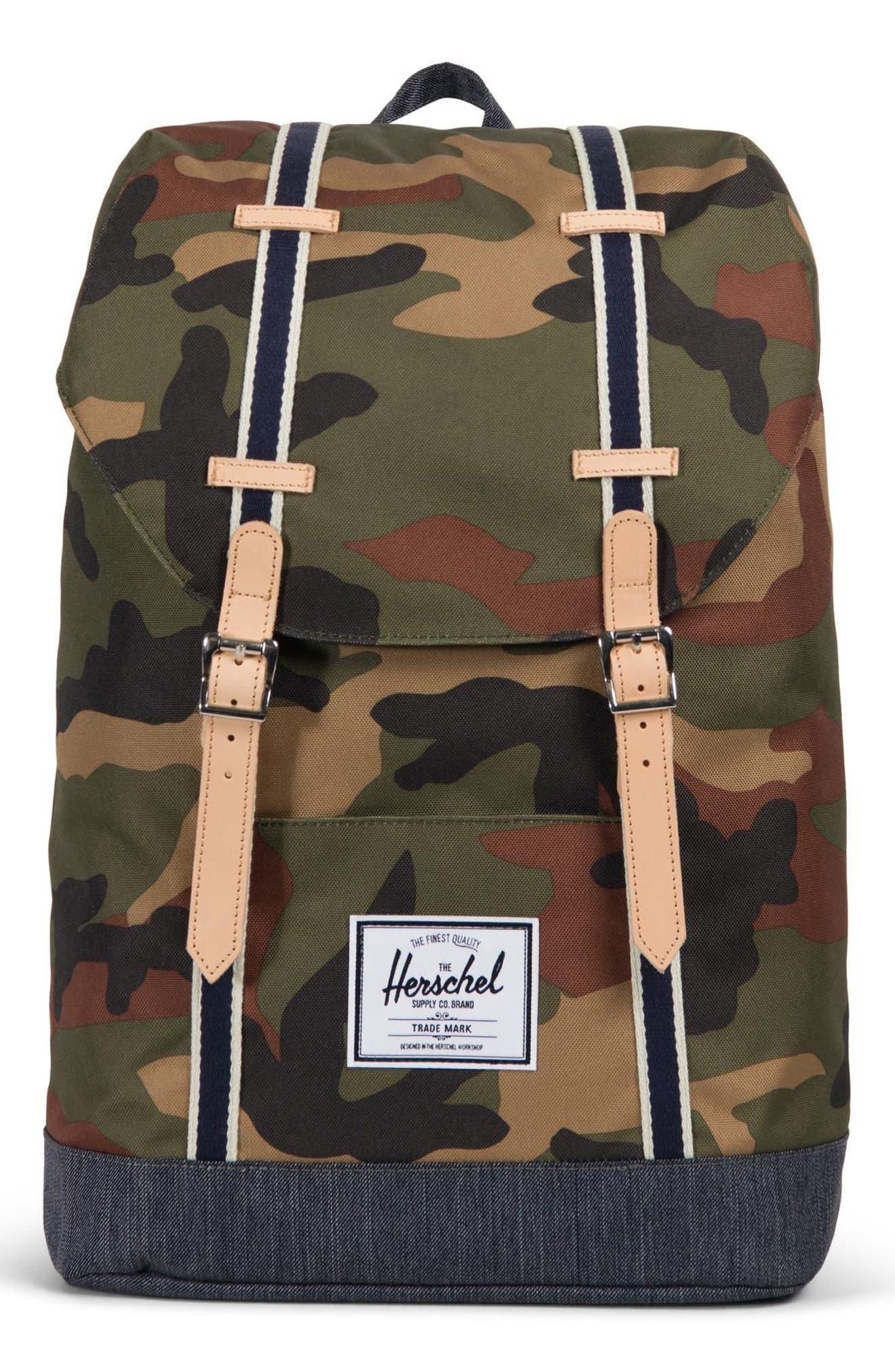 Herschel Supply Co. Retreat Offset Denim Backpack - Green