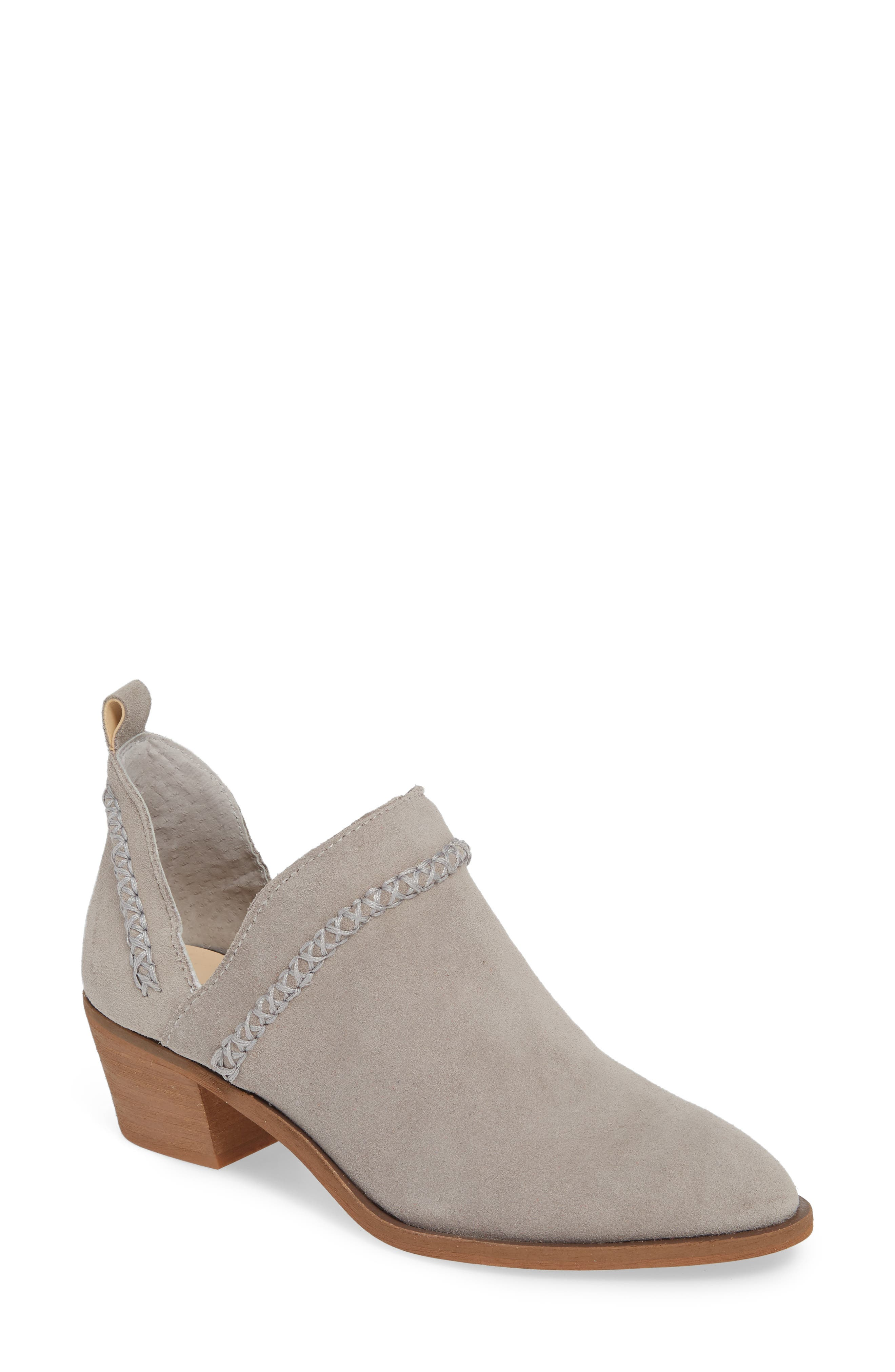 SOLE SOCIETY,                             Nikkie Bootie,                             Main thumbnail 1, color,                             SOFT GREY SUEDE