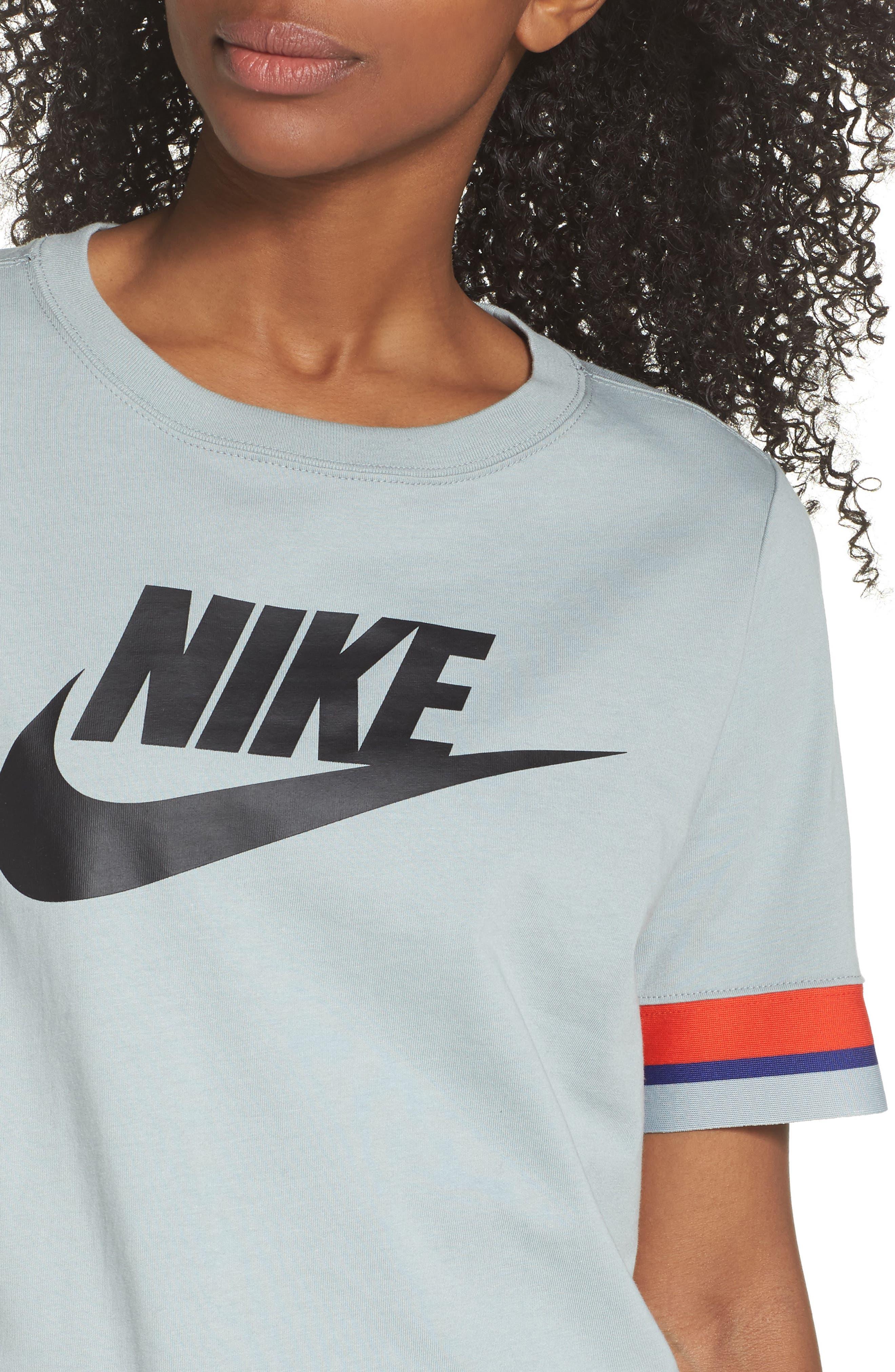 Sportswear Stripe Sleeve Tee,                             Alternate thumbnail 4, color,                             020