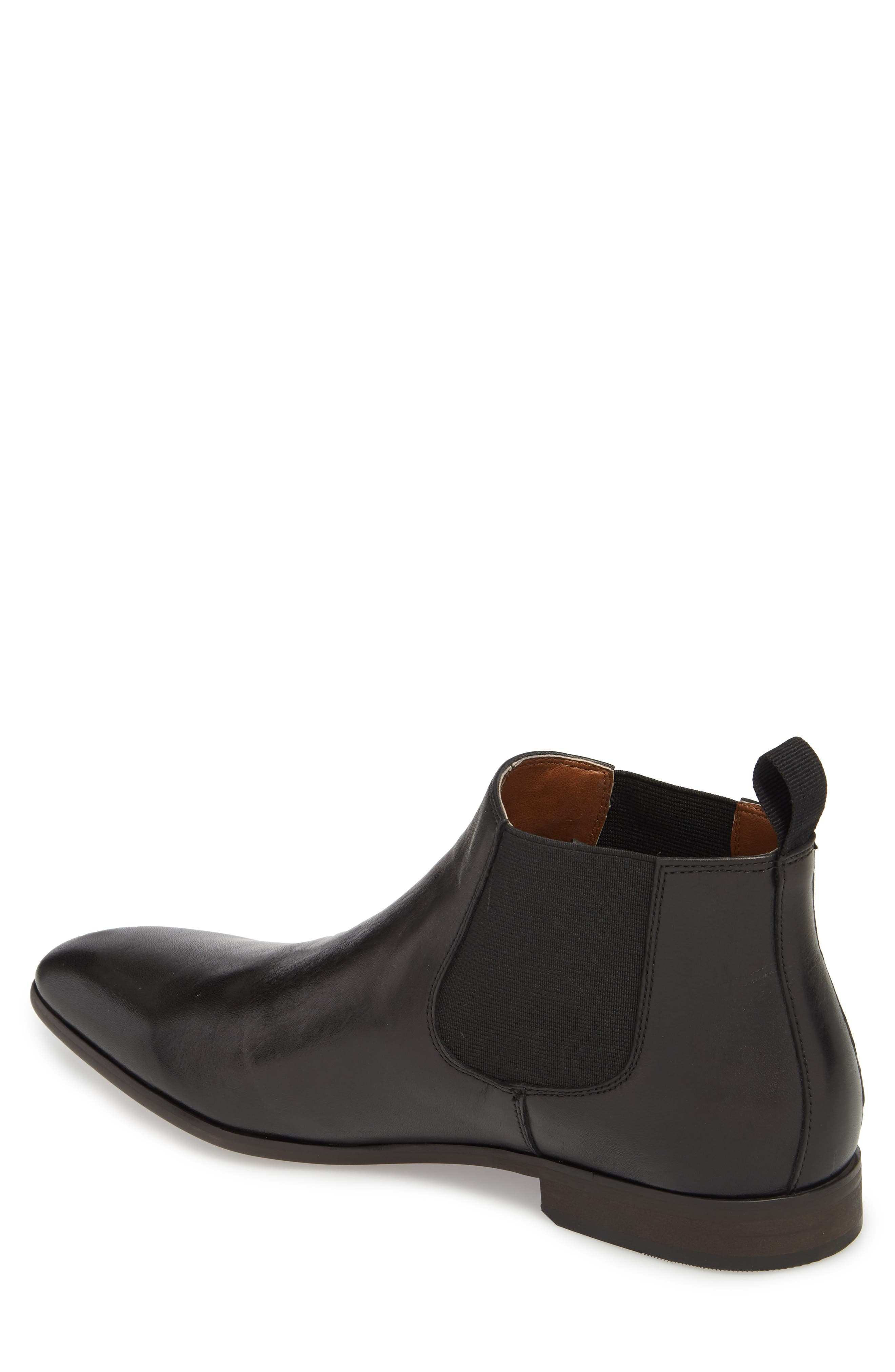 Edward Chelsea Boot,                             Alternate thumbnail 2, color,                             BLACK LEATHER
