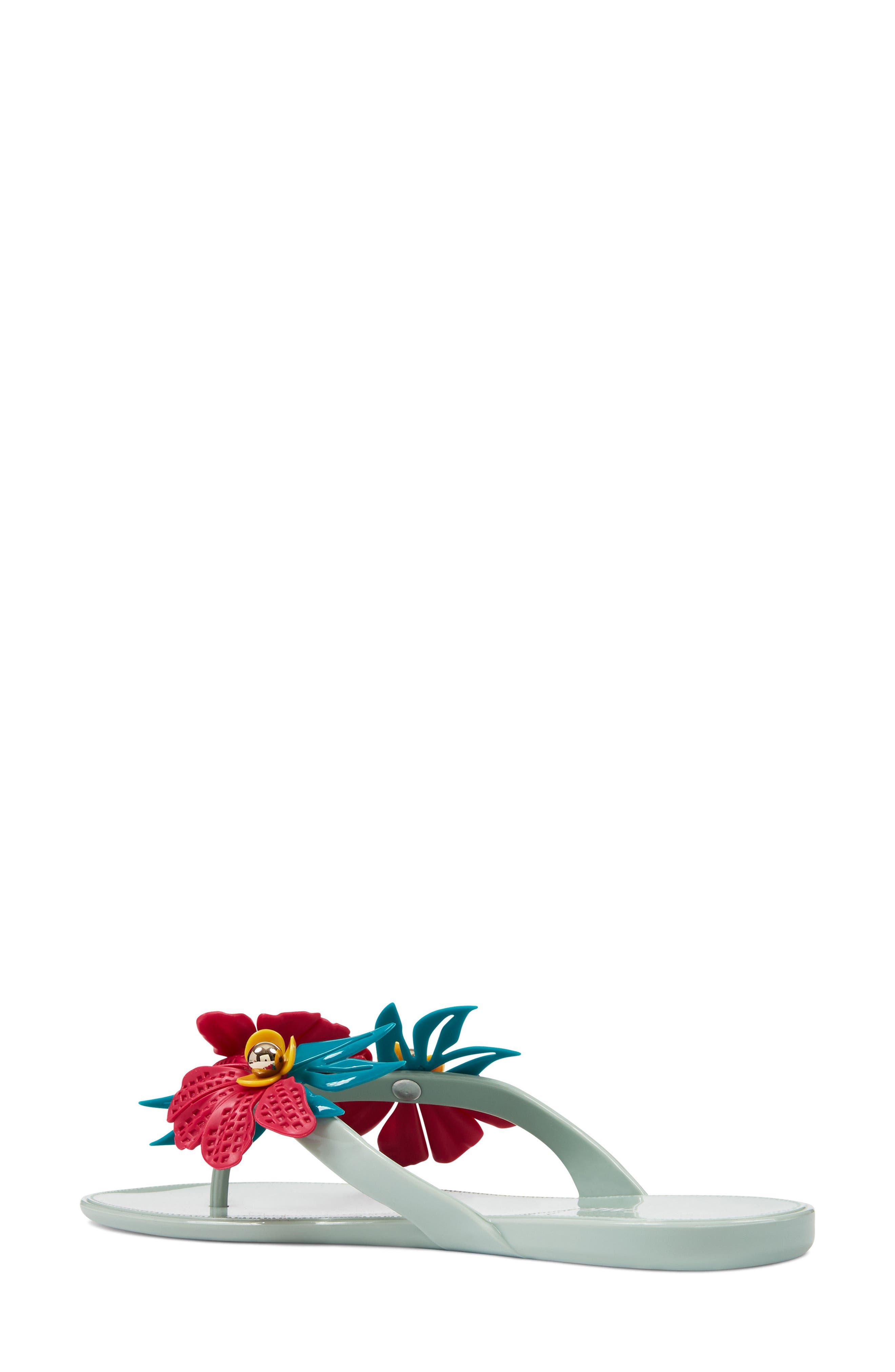 Macinee Thong Sandal,                             Alternate thumbnail 2, color,                             LIGHT GREEN MULTI