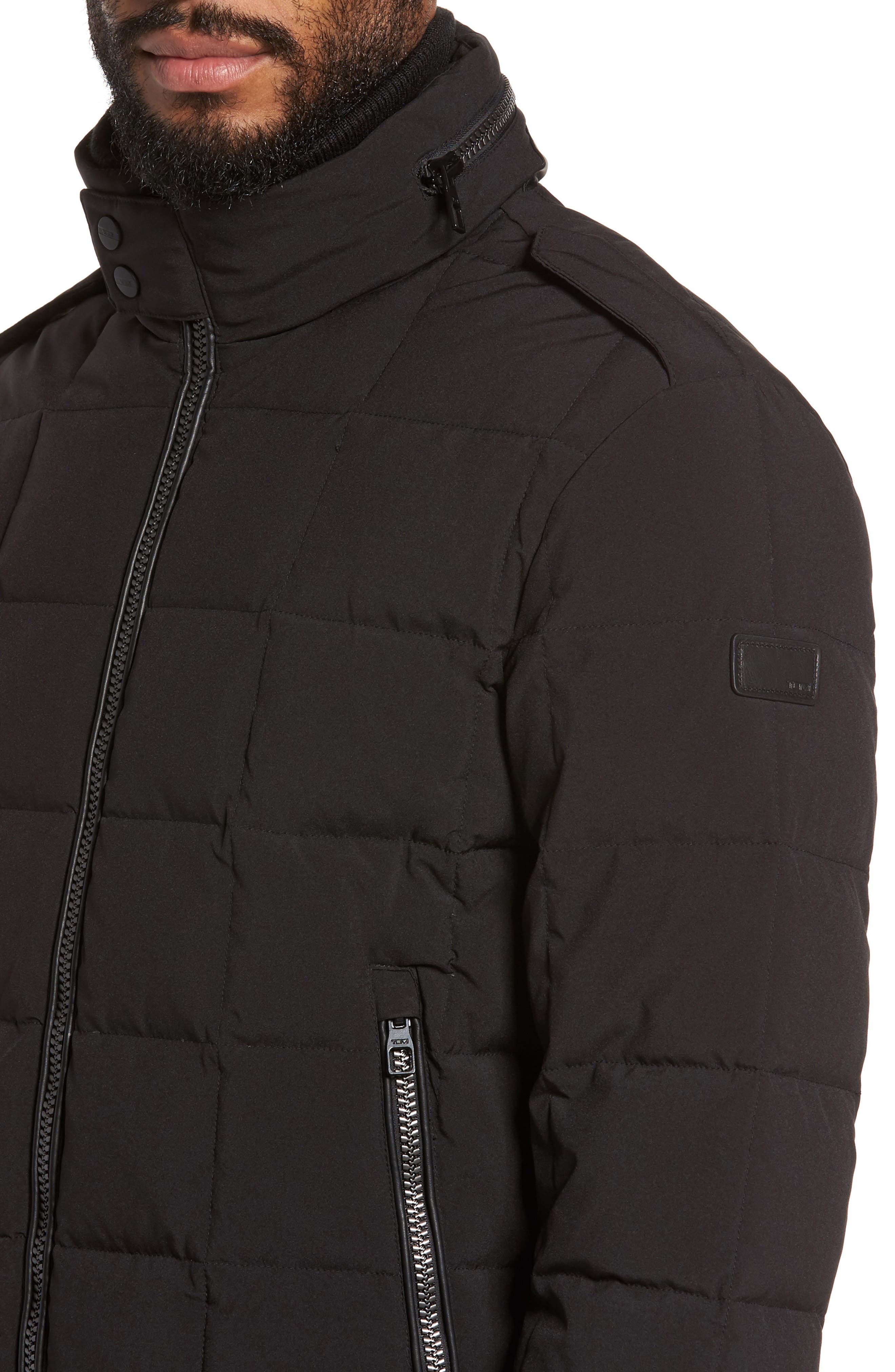Uptown Down Puffer Jacket,                             Alternate thumbnail 4, color,                             001
