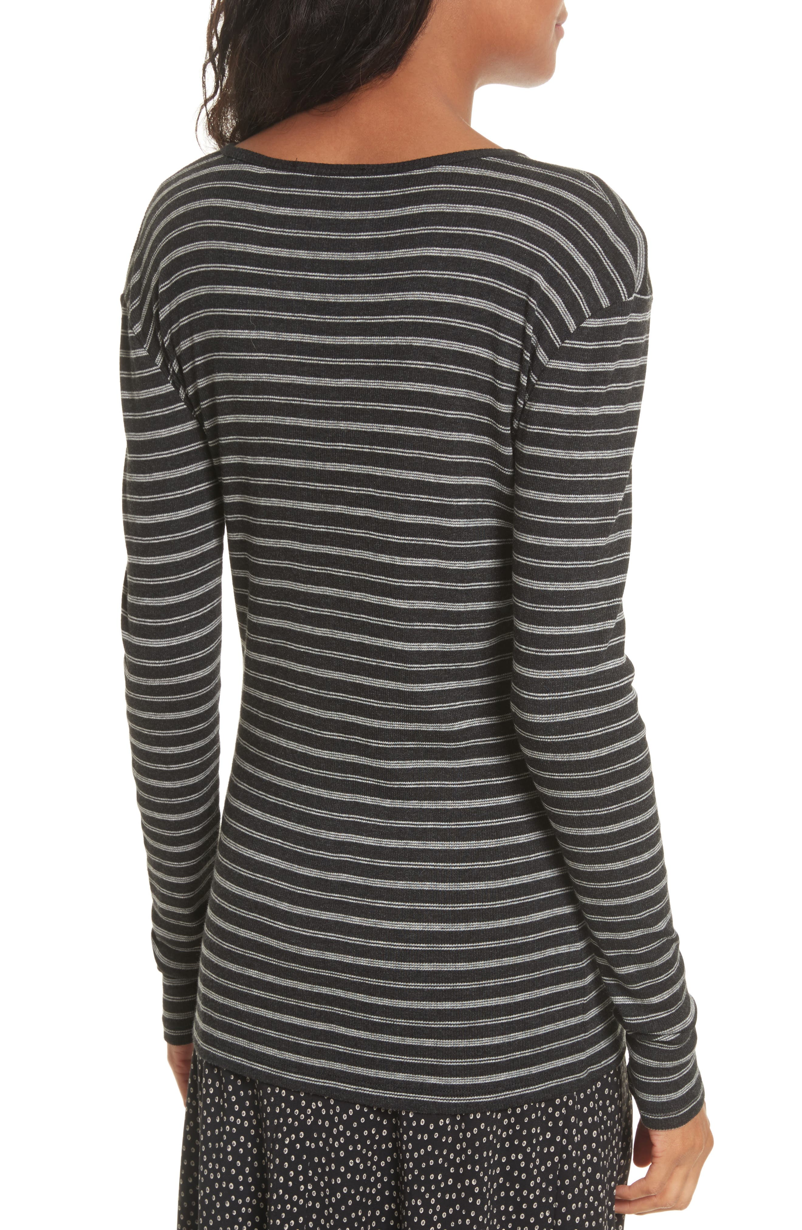 Double Stripe Top,                             Alternate thumbnail 3, color,                             007