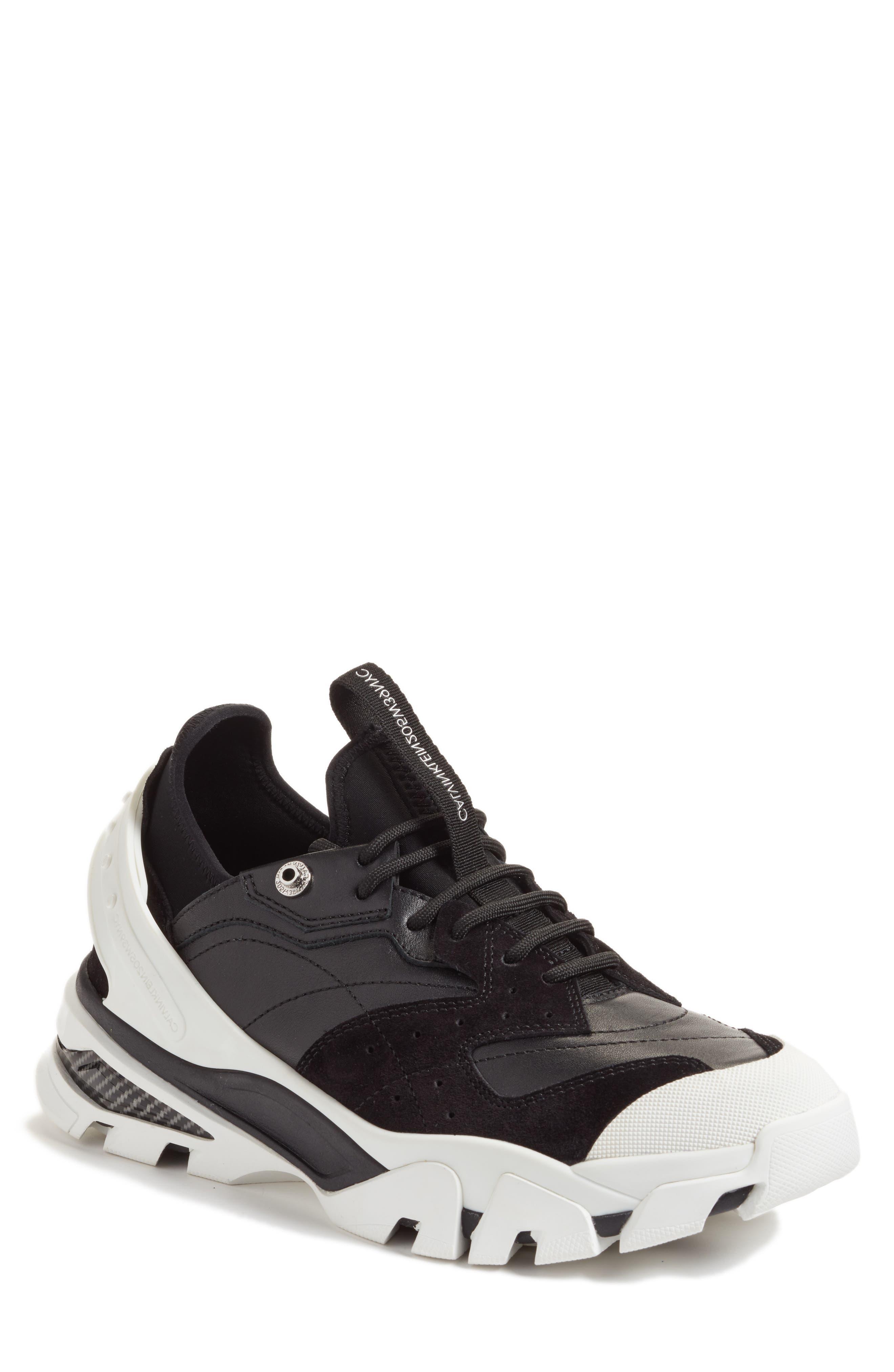 205W39NYC Carla Sneaker,                         Main,                         color, WHITE/ BLACK