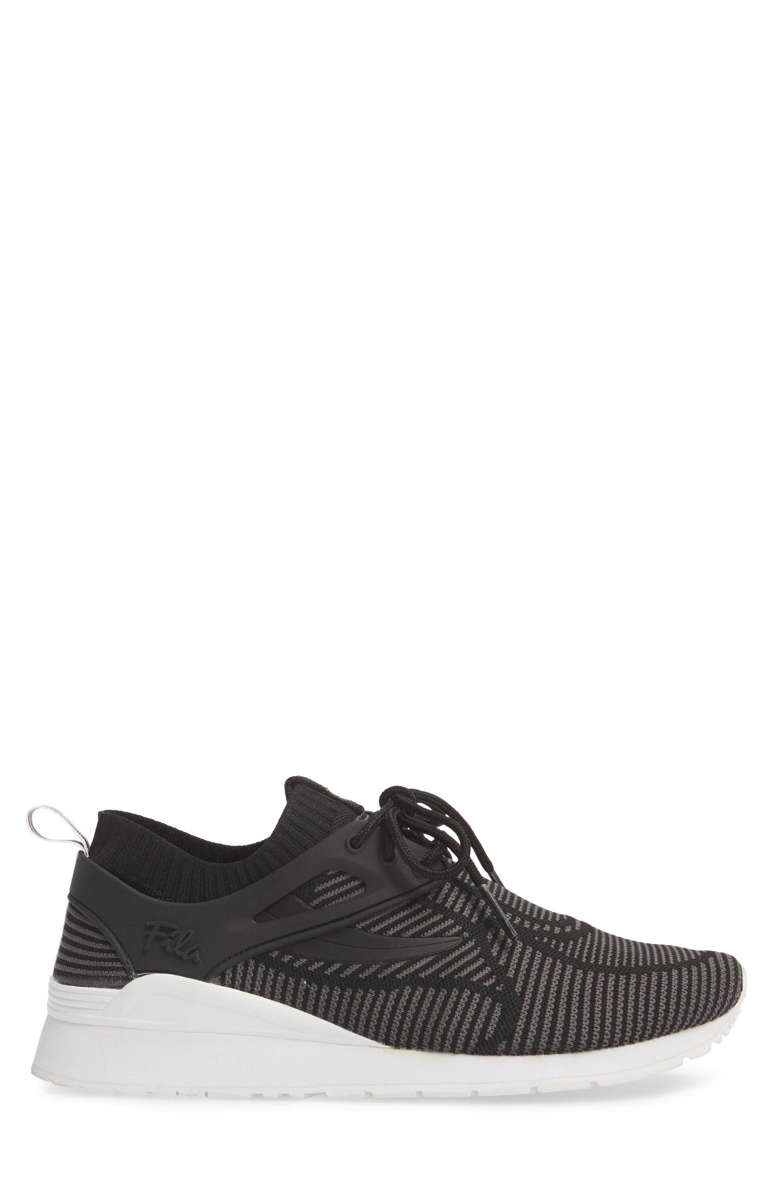 Overpass 2.0 Knit Sneaker,                             Alternate thumbnail 3, color,                             BLACK/ WHITE