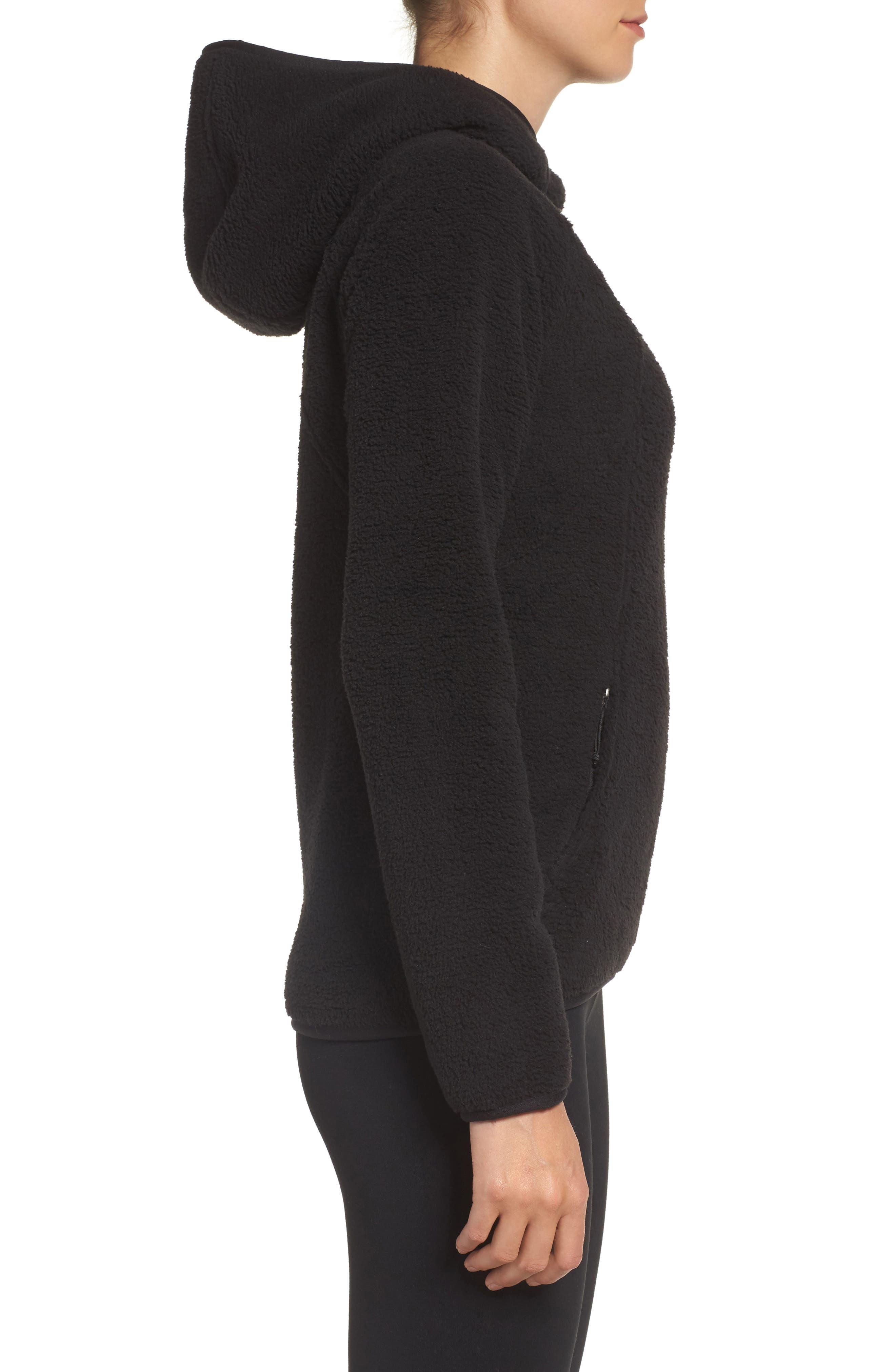 Hooded Fleece Pullover,                             Alternate thumbnail 3, color,                             001