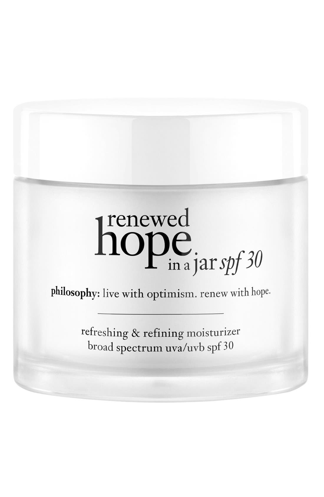renewed hope in a jar refreshing & refining moisturizer SPF 30,                             Main thumbnail 1, color,                             NO COLOR