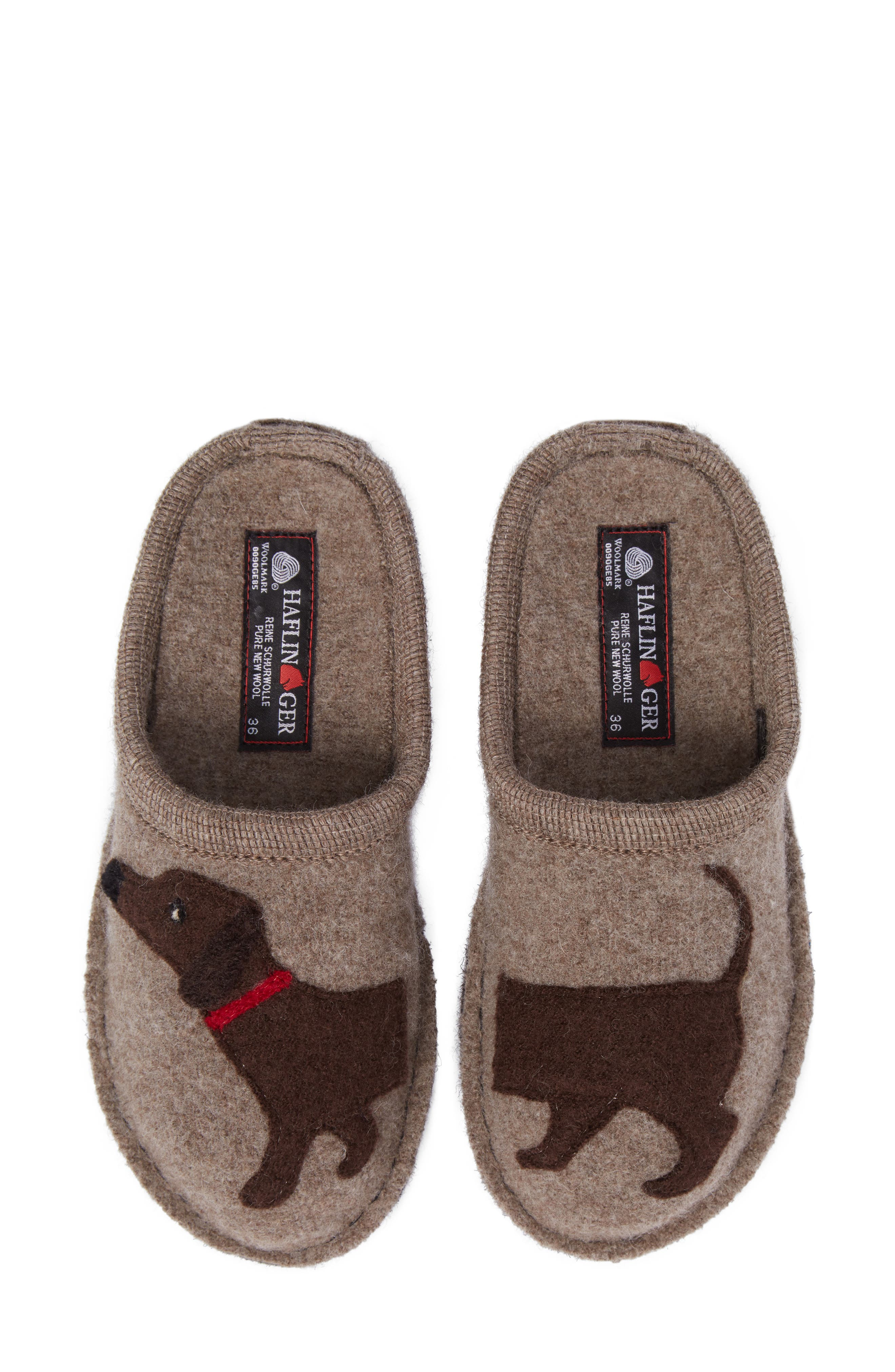 'Doggy' Slipper,                             Alternate thumbnail 2, color,                             EARTH