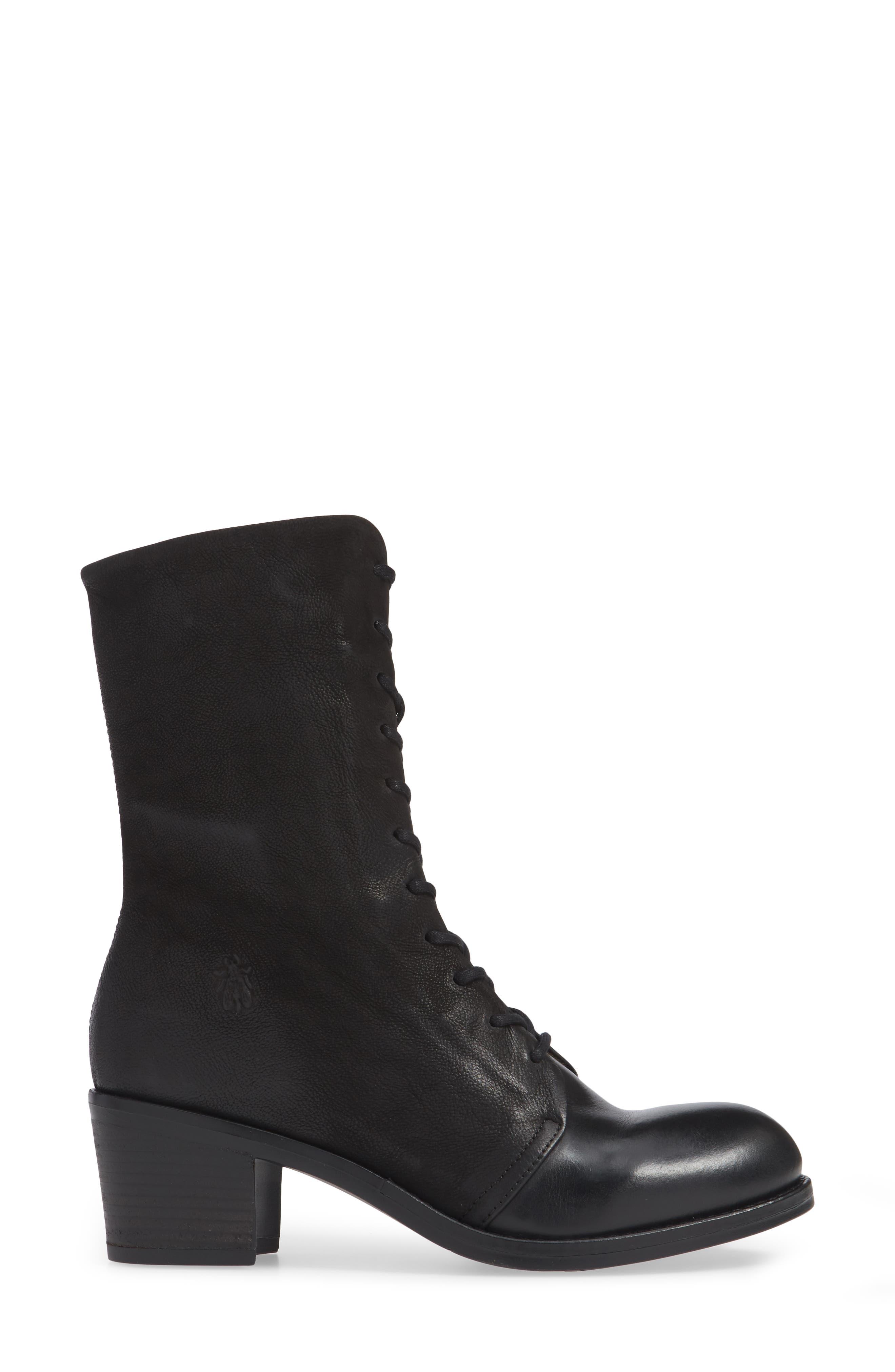 Zeko Lace-Up Boot,                             Alternate thumbnail 3, color,                             BLACK