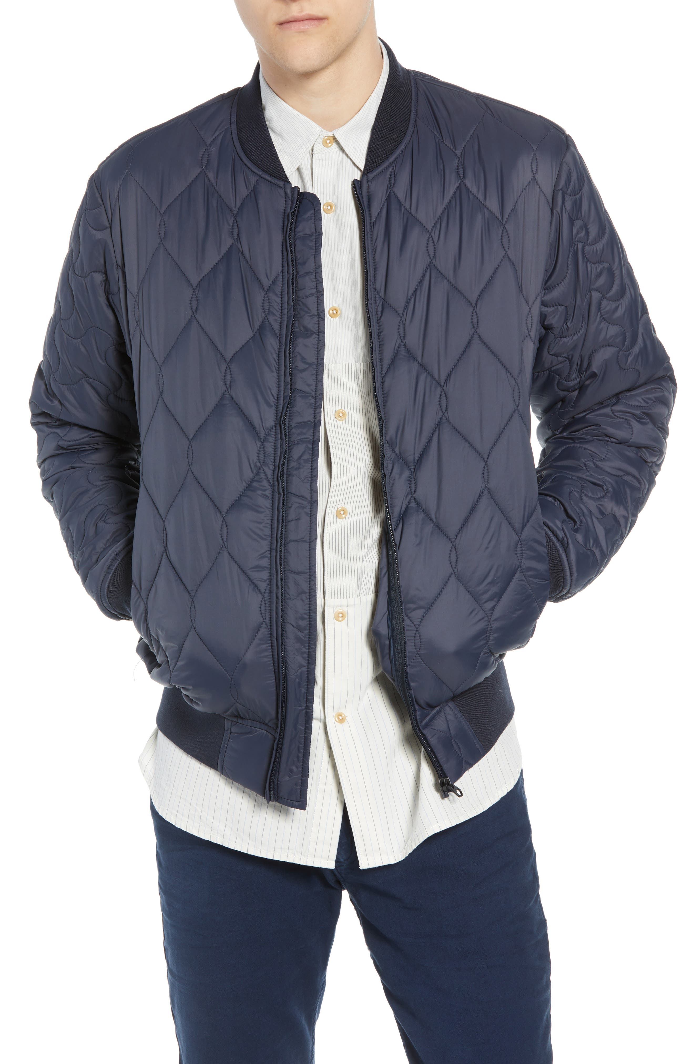 Quilted Jacket,                         Main,                         color, UTILITY BLUE MIDNIGHT MOSS