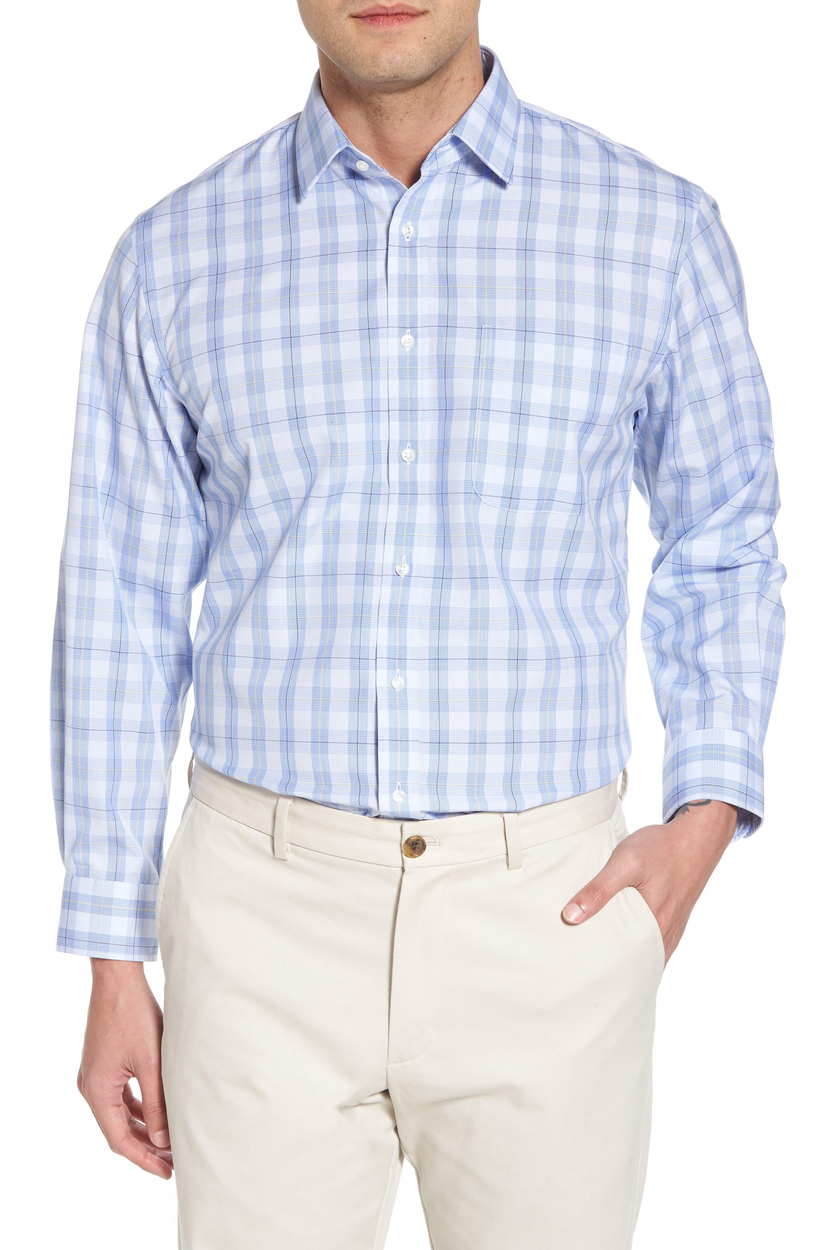 Smartcare<sup>™</sup> Traditional Fit Plaid Sport Shirt,                             Main thumbnail 1, color,