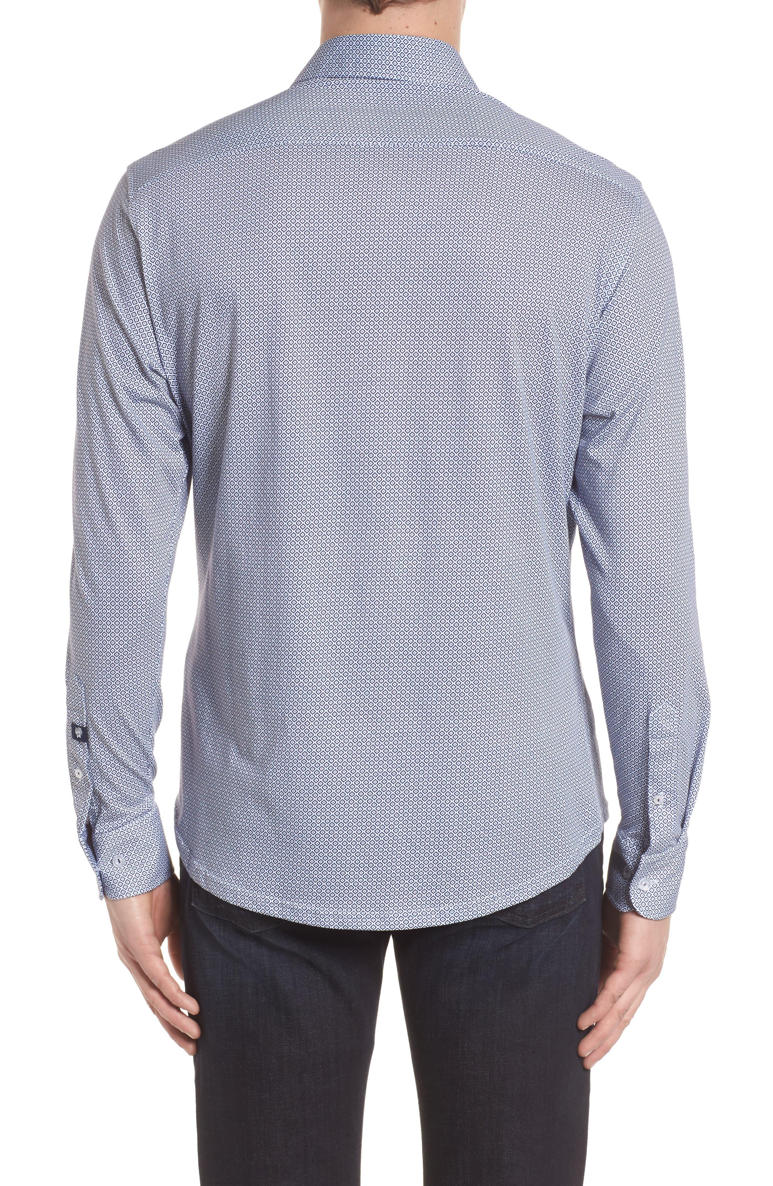 Diamond Print Knit Sport Shirt,                             Alternate thumbnail 2, color,                             100