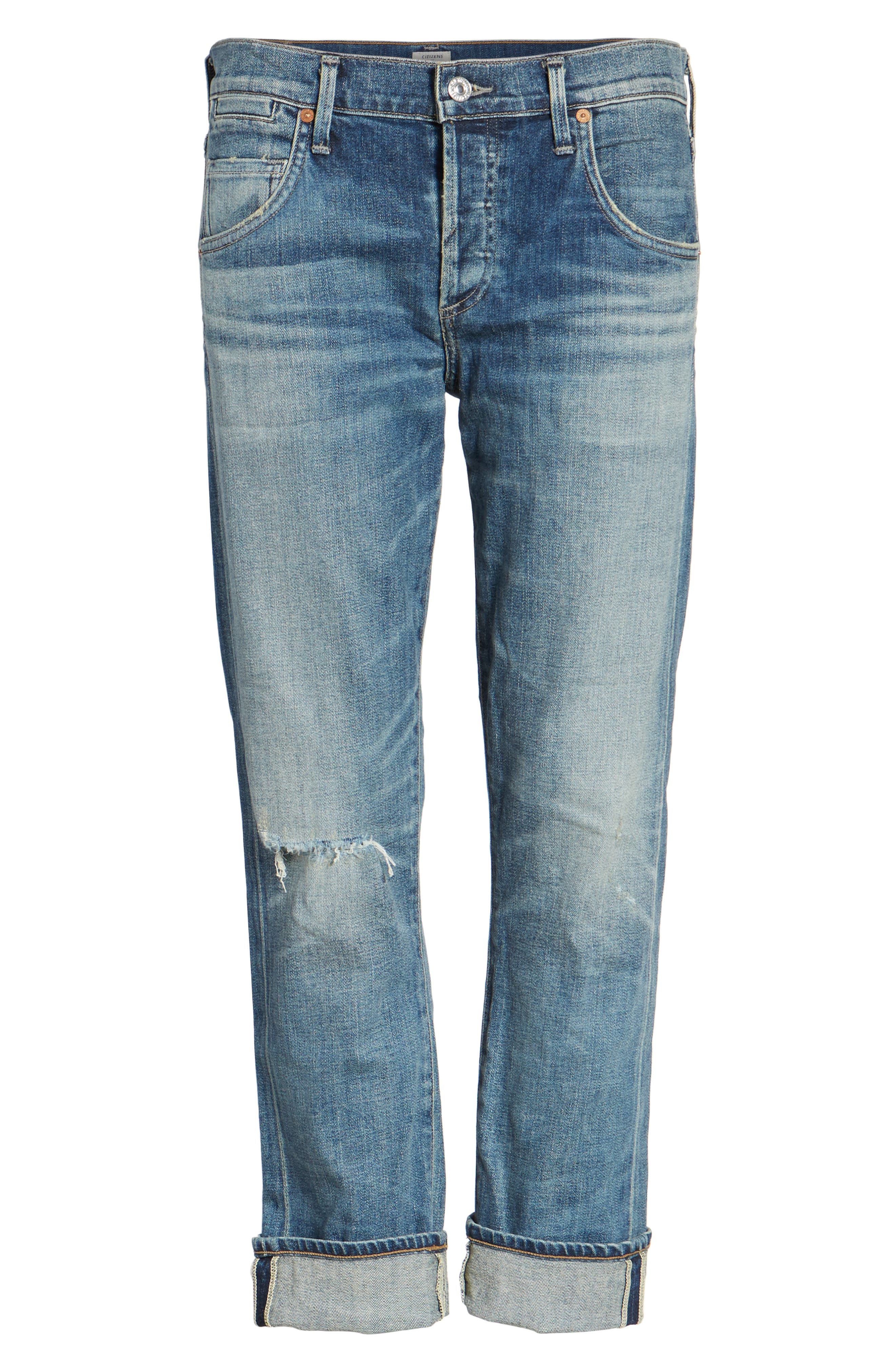 CITIZENS OF HUMANITY 'Emerson' Ripped Slim Boyfriend Jeans, Main, color, 469