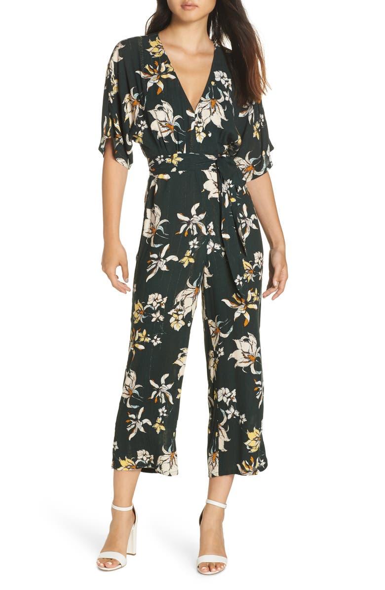 Ruby Floral Print Jumpsuit Main Color