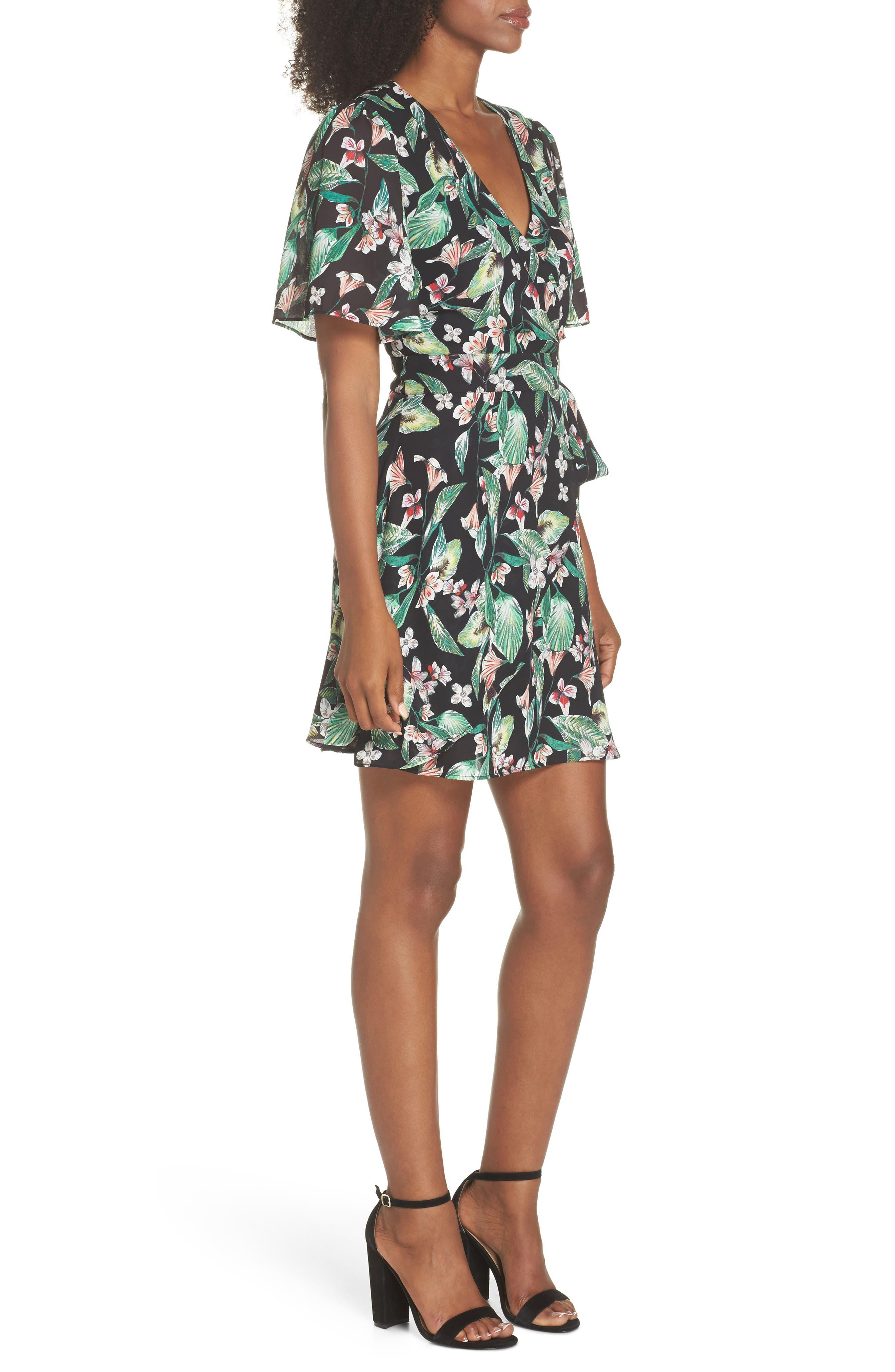 Kimi Wrap Dress,                             Alternate thumbnail 3, color,