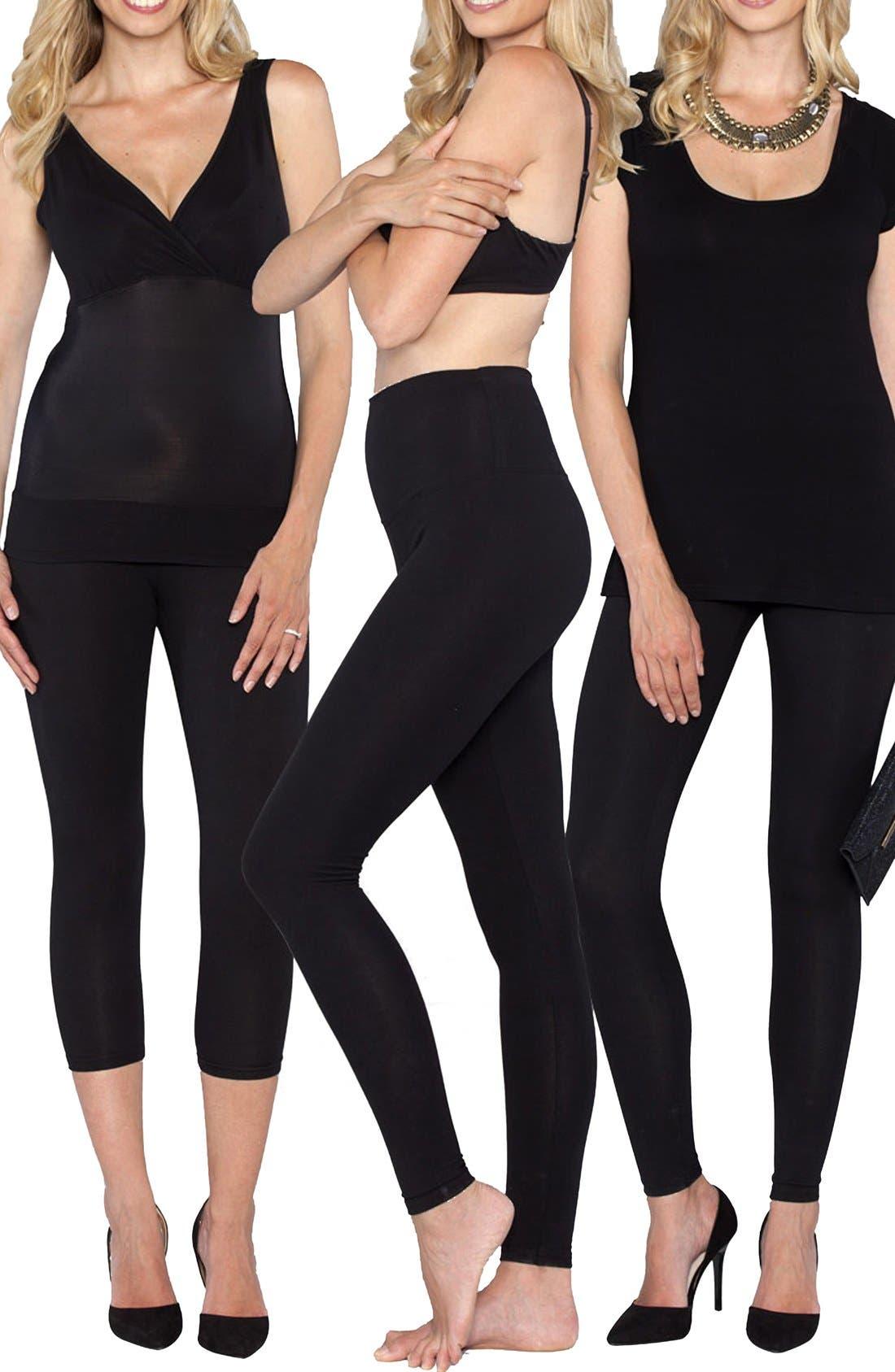 'The Tummy Tight' Postpartum Shapewear Kit,                             Main thumbnail 1, color,                             BLACK
