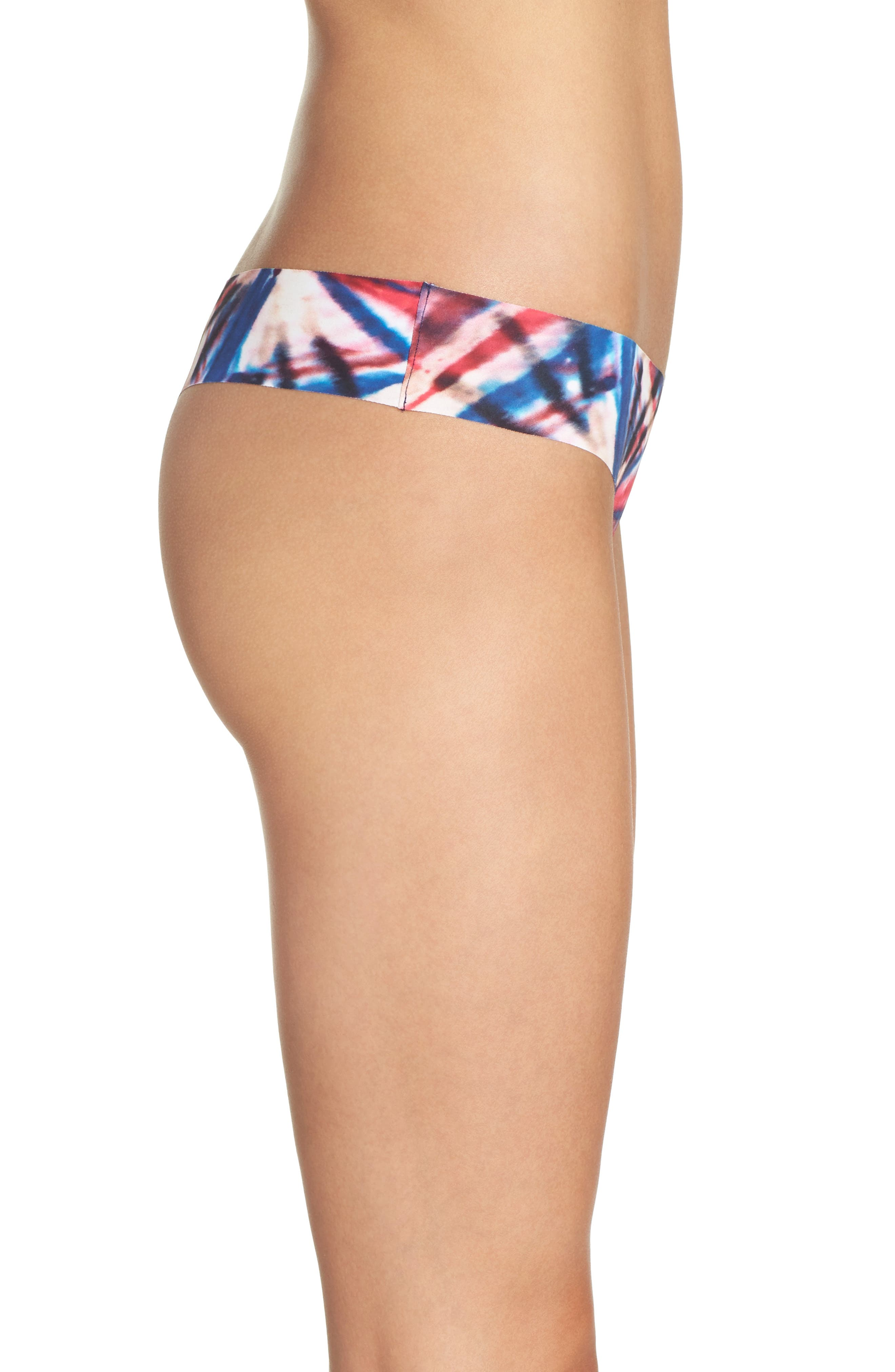 Print Microfiber Thong,                             Alternate thumbnail 242, color,