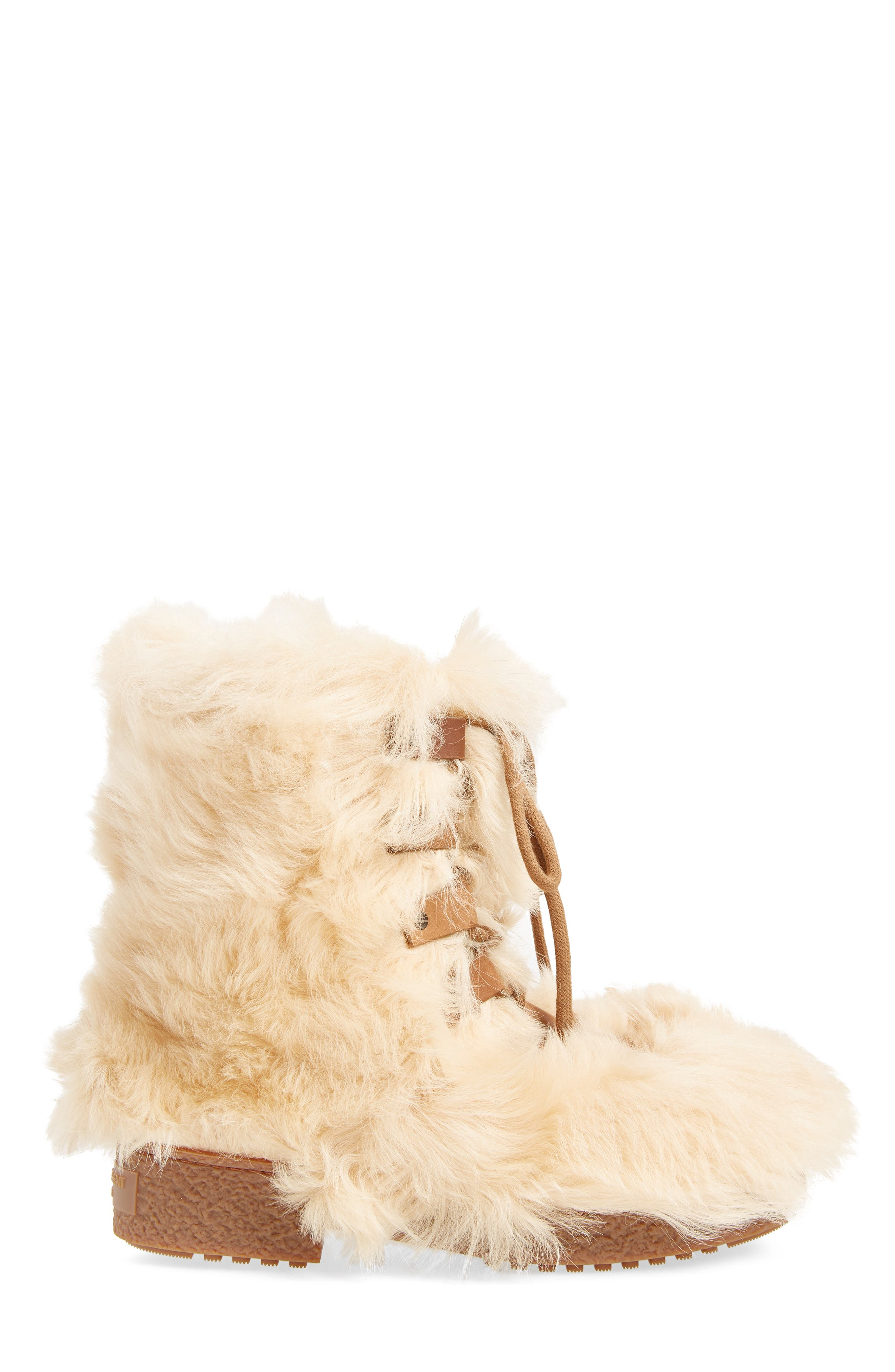 Furry Genuine Shearling Boot,                             Alternate thumbnail 3, color,                             278