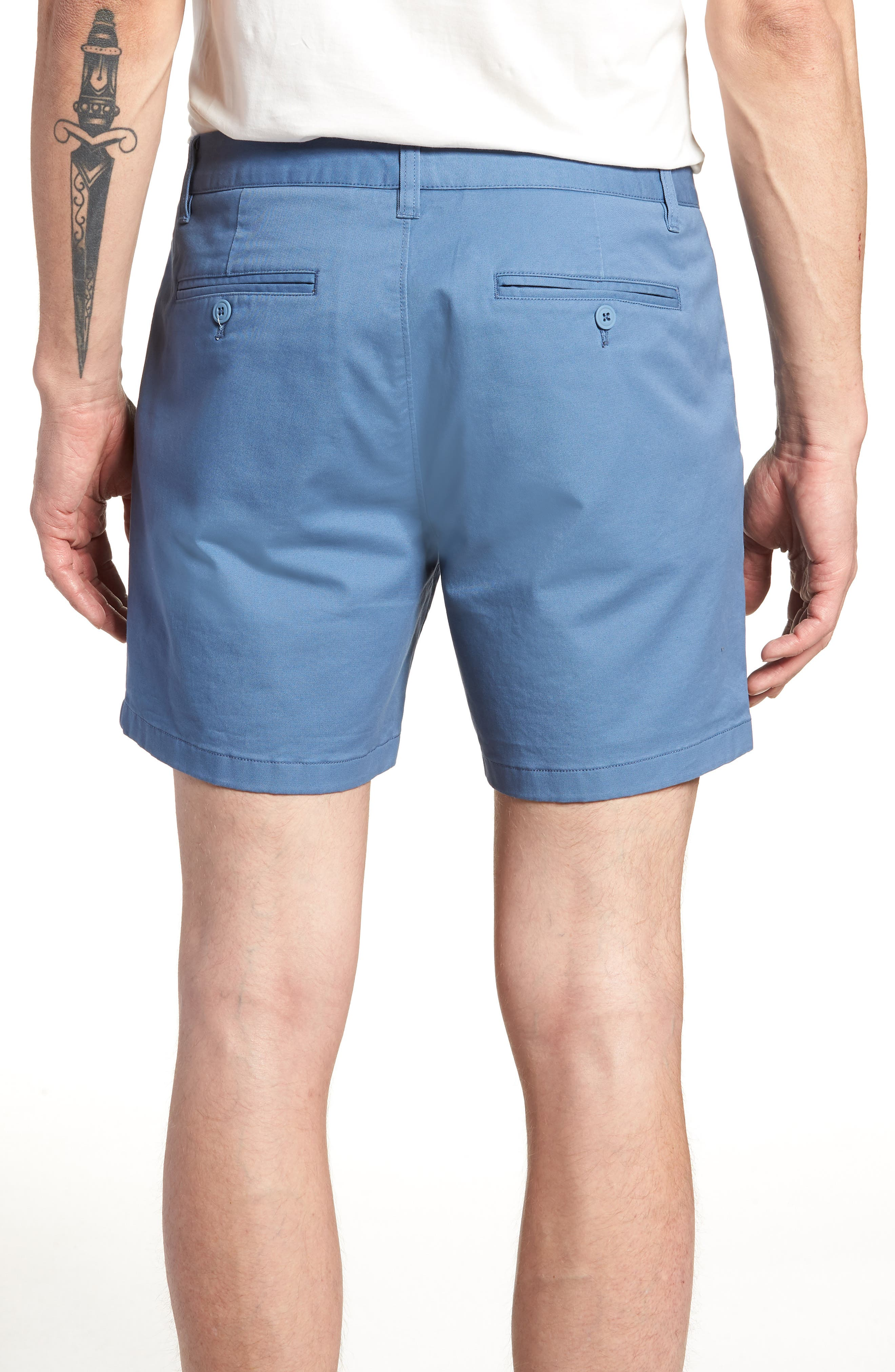 Stretch Washed Chino 5-Inch Shorts,                             Alternate thumbnail 42, color,
