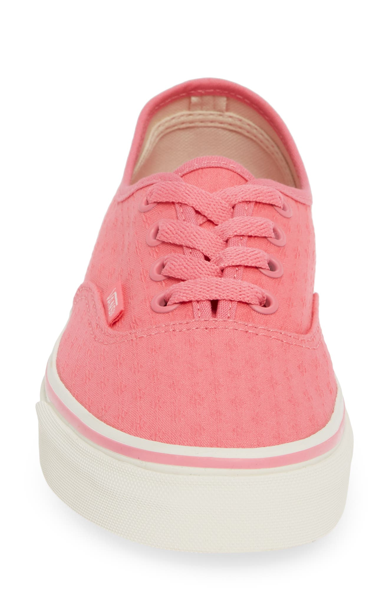 'Authentic' Sneaker,                             Alternate thumbnail 4, color,                             PINK LEMONADE/ MARSHMALLOW