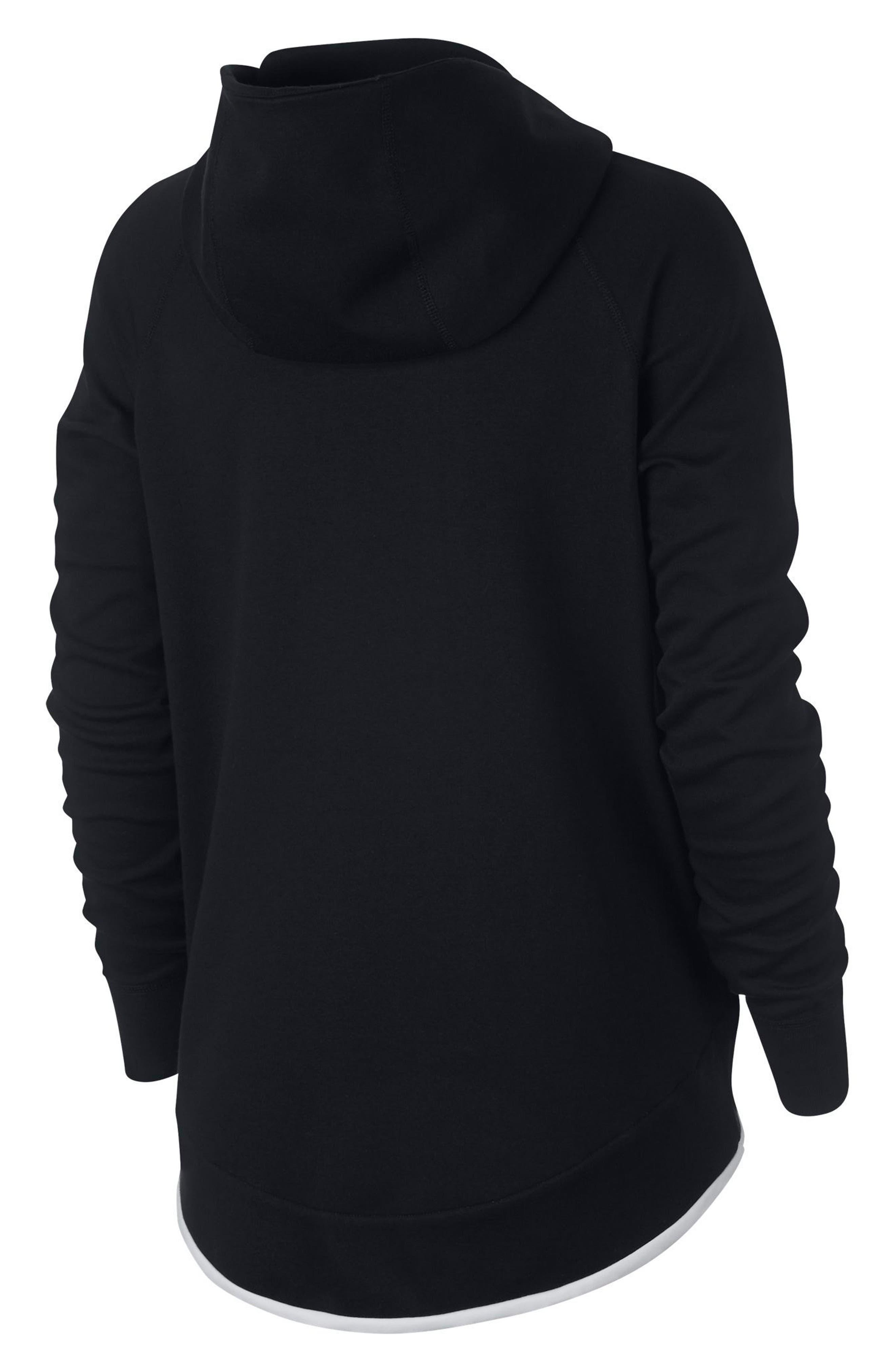 Sportswear Tech Fleece Cape Jacket,                             Alternate thumbnail 8, color,                             BLACK/ WHITE