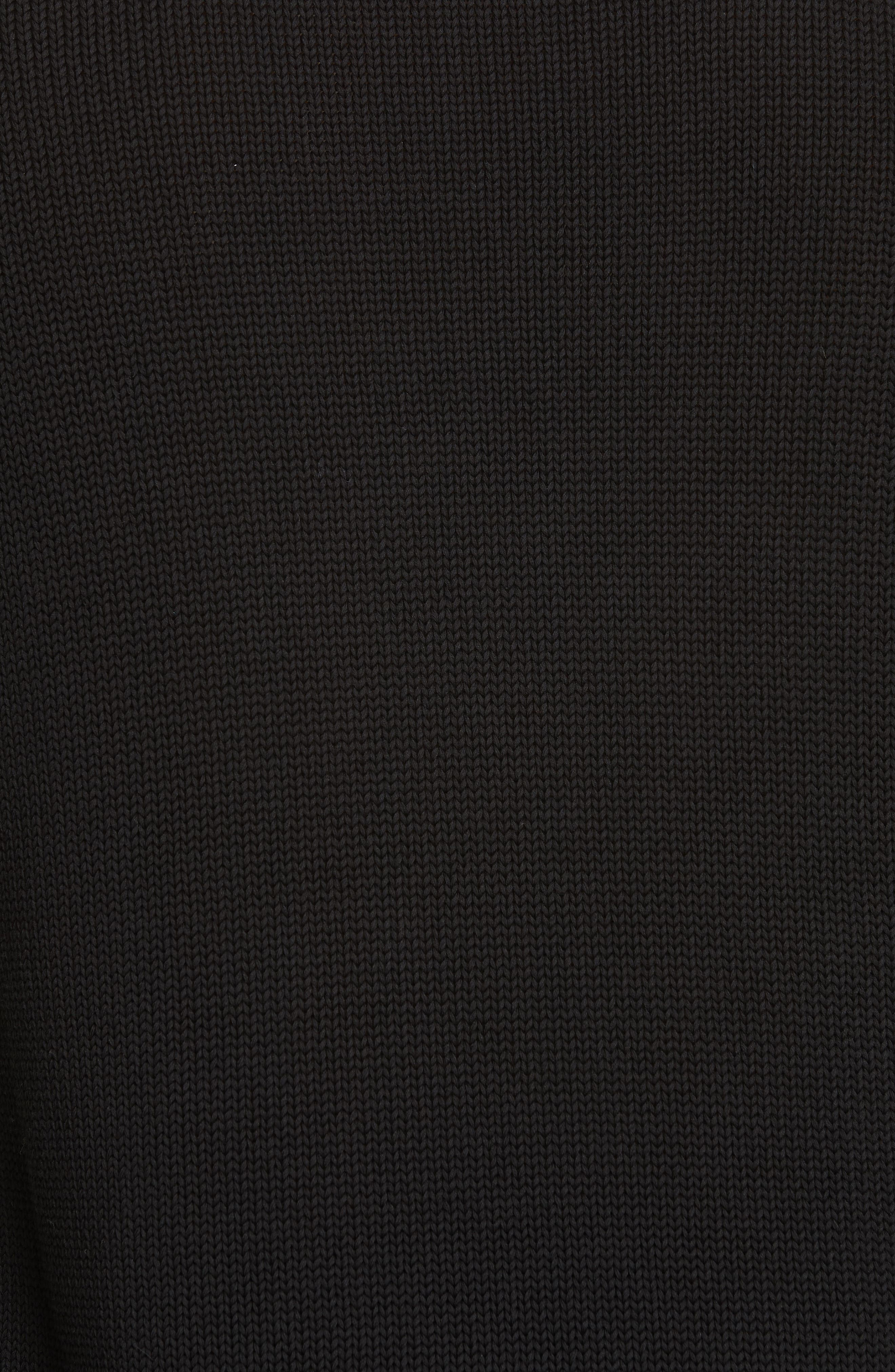 Logo Cotton Sweater,                             Alternate thumbnail 5, color,                             BLACK/ WHITE
