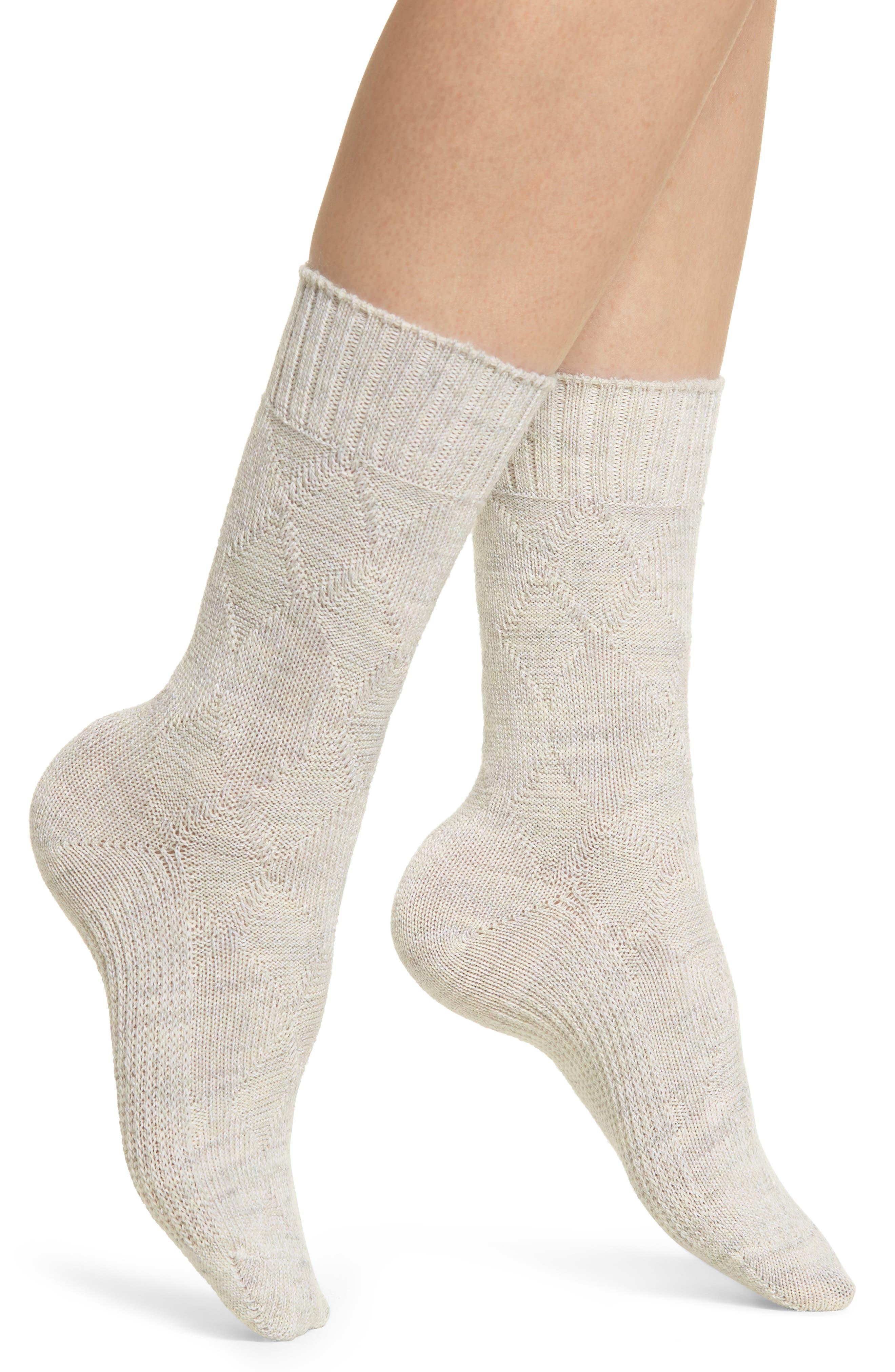 Moonridge Premium Crew Socks,                         Main,                         color, MOONBEAM HEATHER