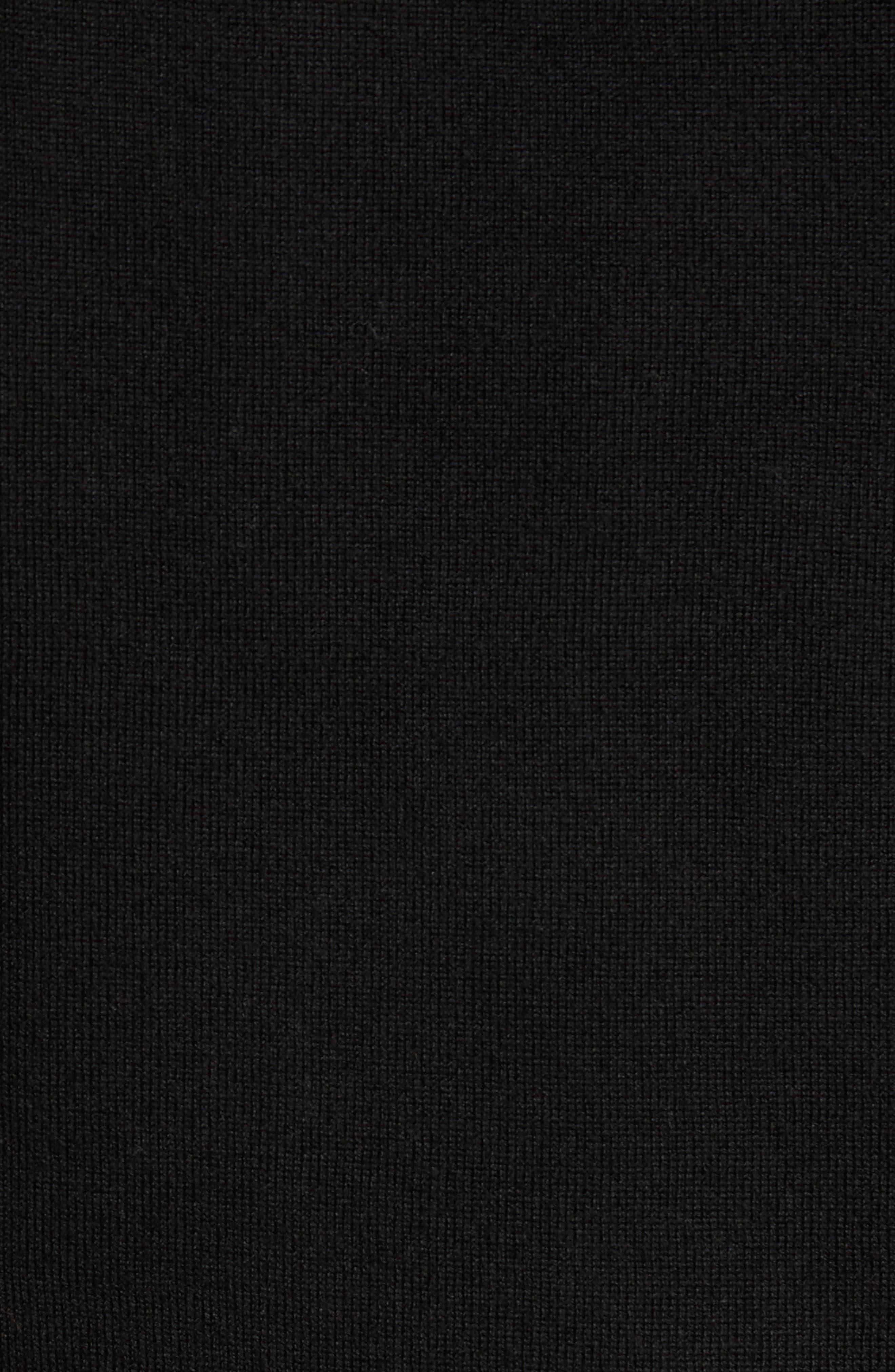Crown Soft Merino Blend Quarter Zip Sweater,                             Alternate thumbnail 5, color,                             001