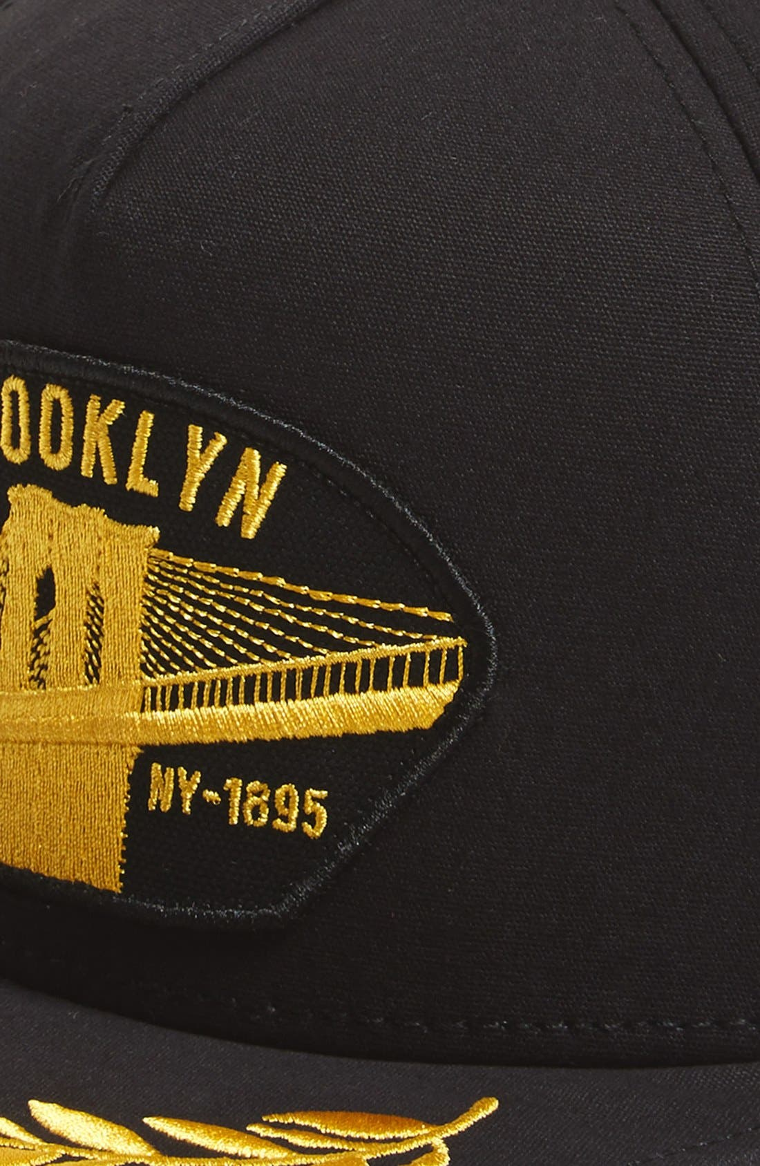 'Brooklyn Steel' Snapback Cap,                             Alternate thumbnail 2, color,                             001