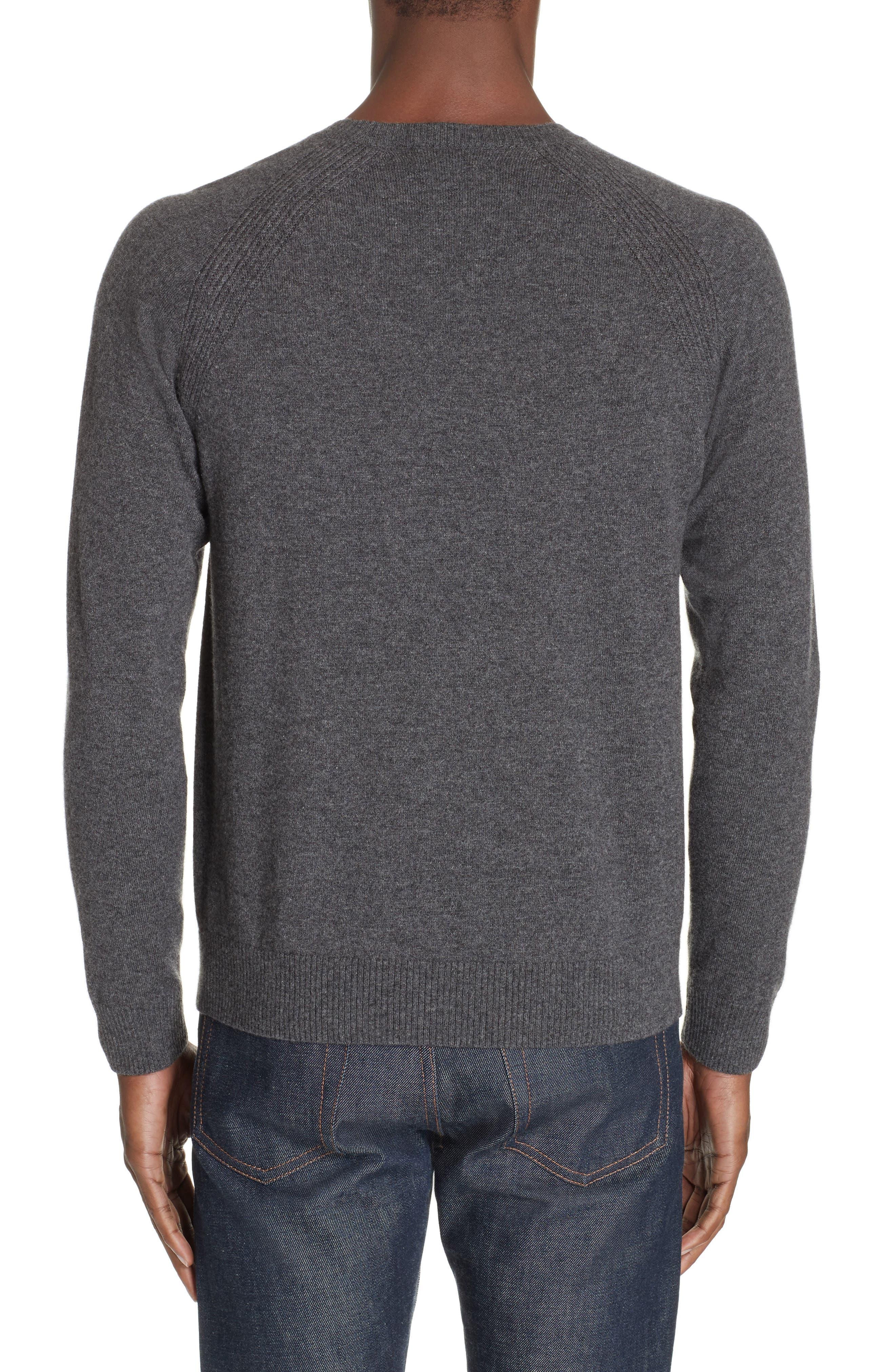 Cashmere Crewneck Sweater,                             Alternate thumbnail 2, color,                             ANTHRACITE