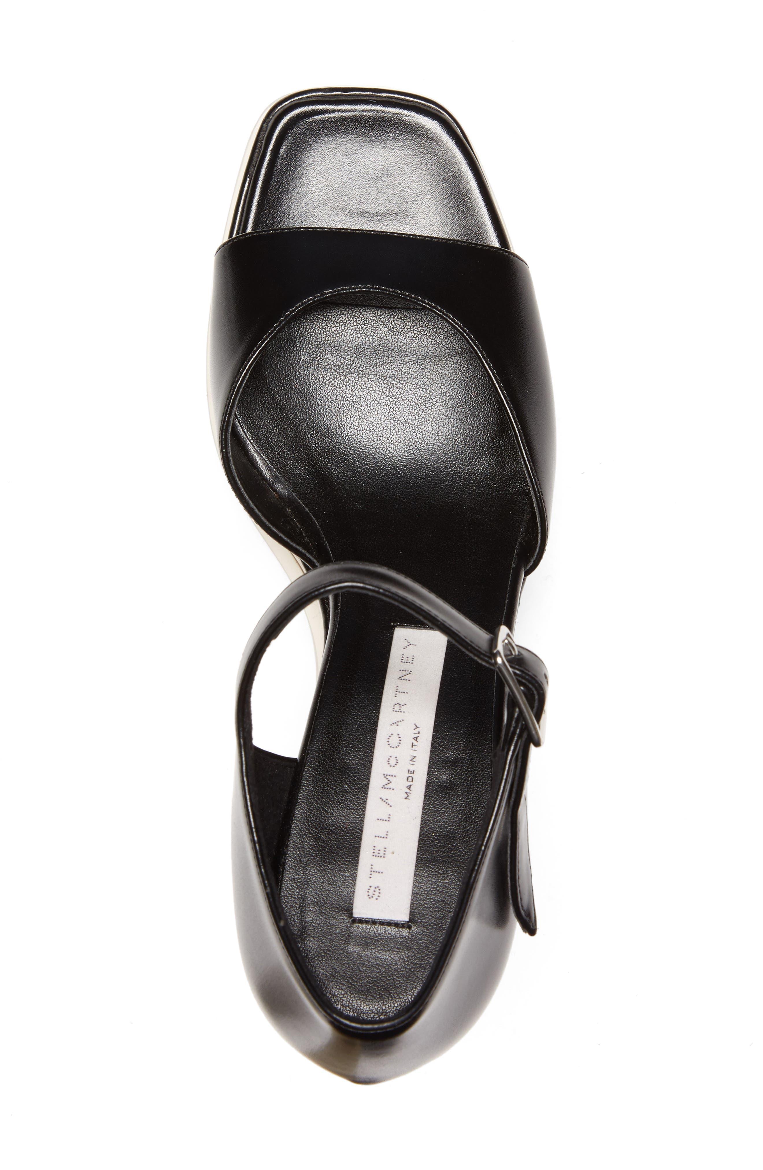 Platform Wedge Sandal,                             Alternate thumbnail 5, color,                             001