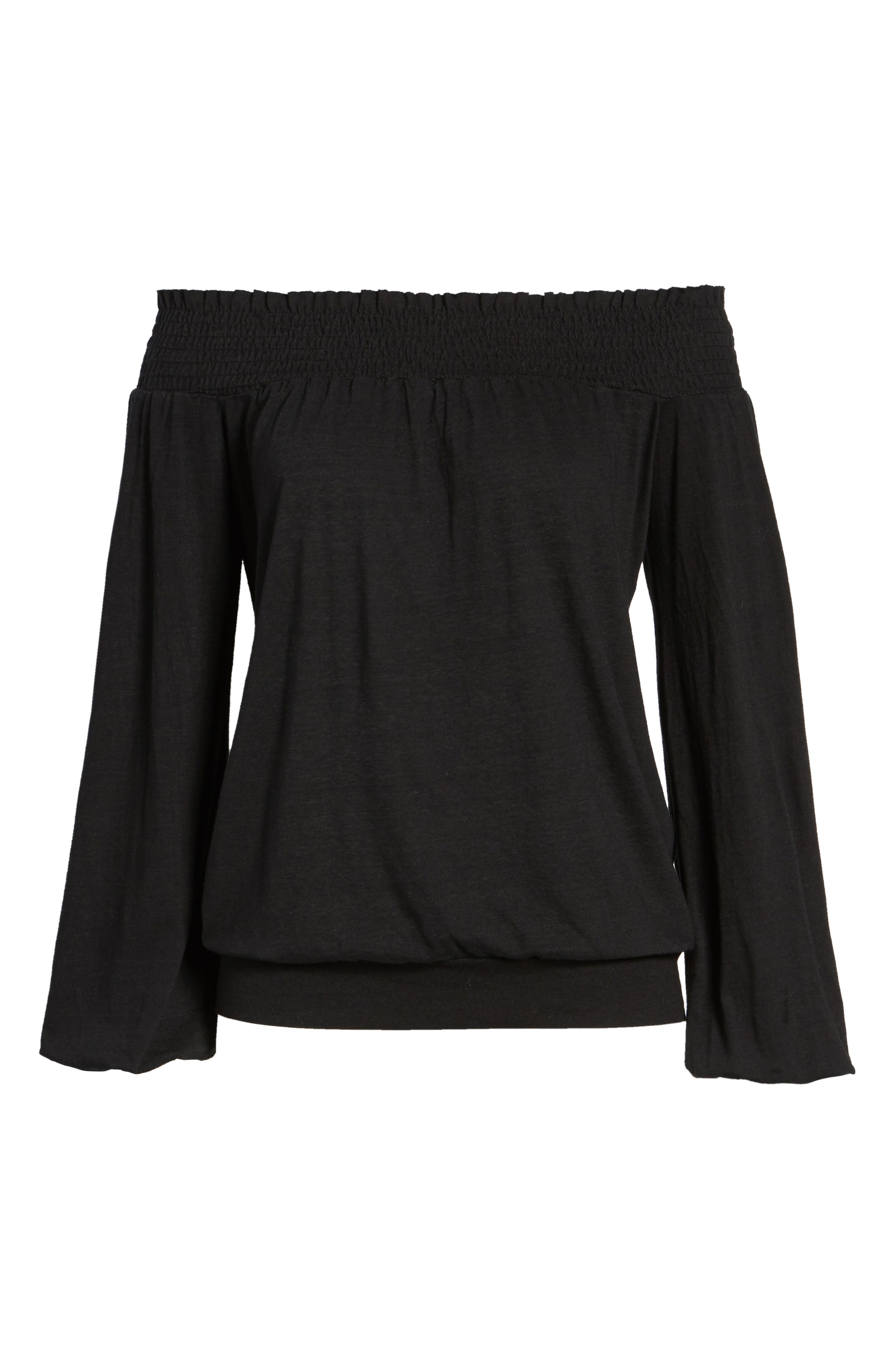 Off the Shoulder Tee,                             Alternate thumbnail 6, color,                             001
